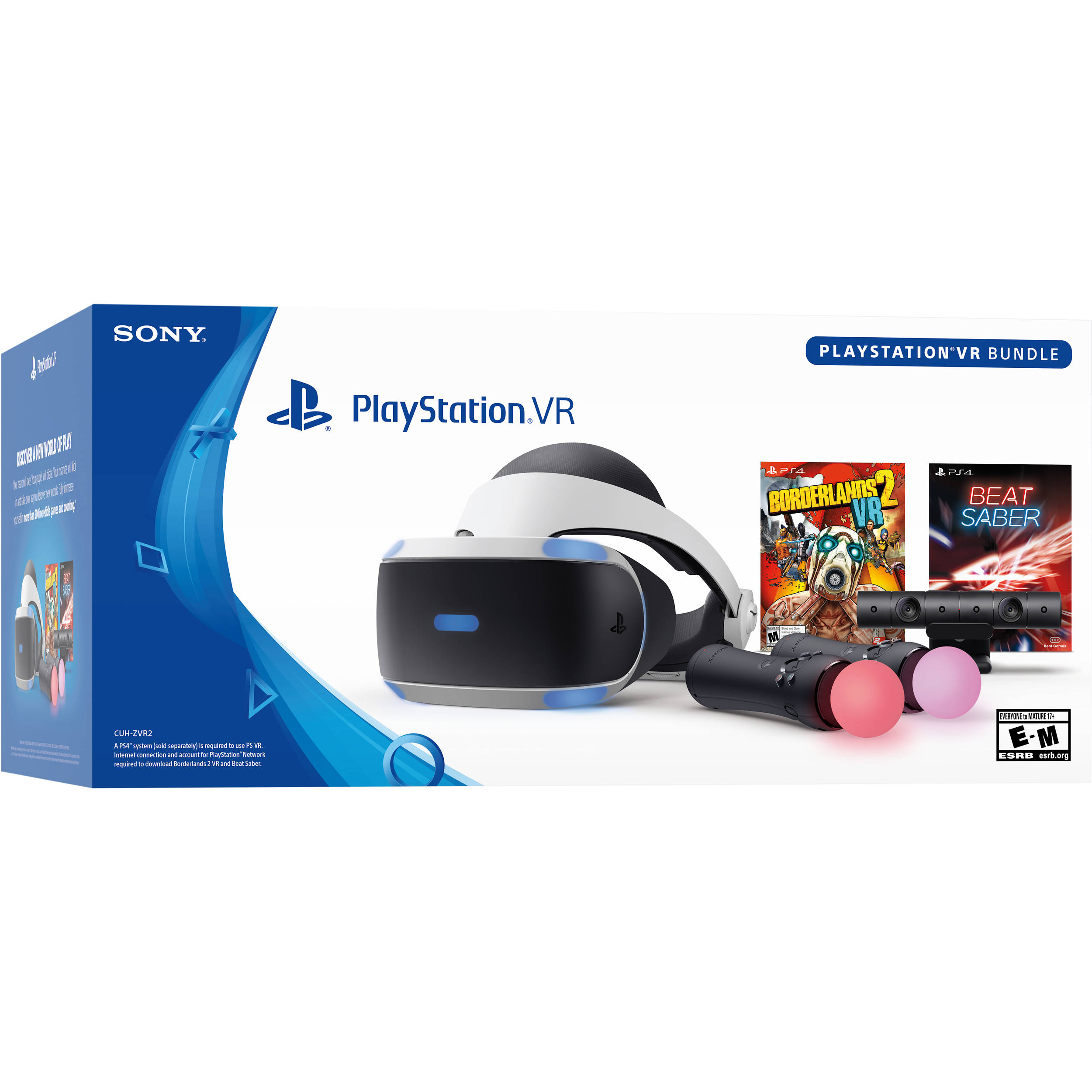 Sony PlayStation VR Borderlands 2 VR and Beat Saber Bundle (PS4)