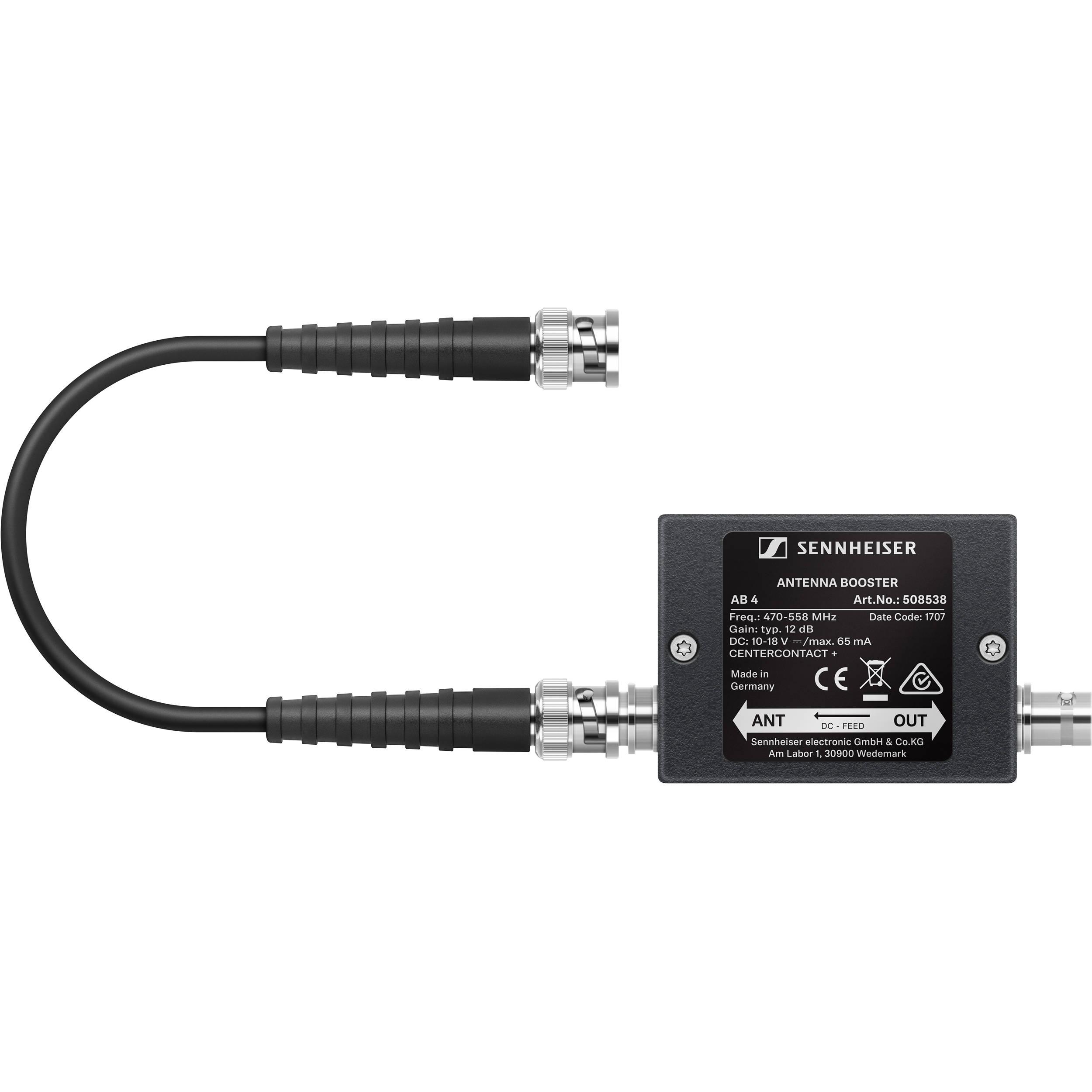 65cd5f6c2780fa Sennheiser AB 4-AW+ Antenna Booster (470 to 558 MHz) AB 4-AW+