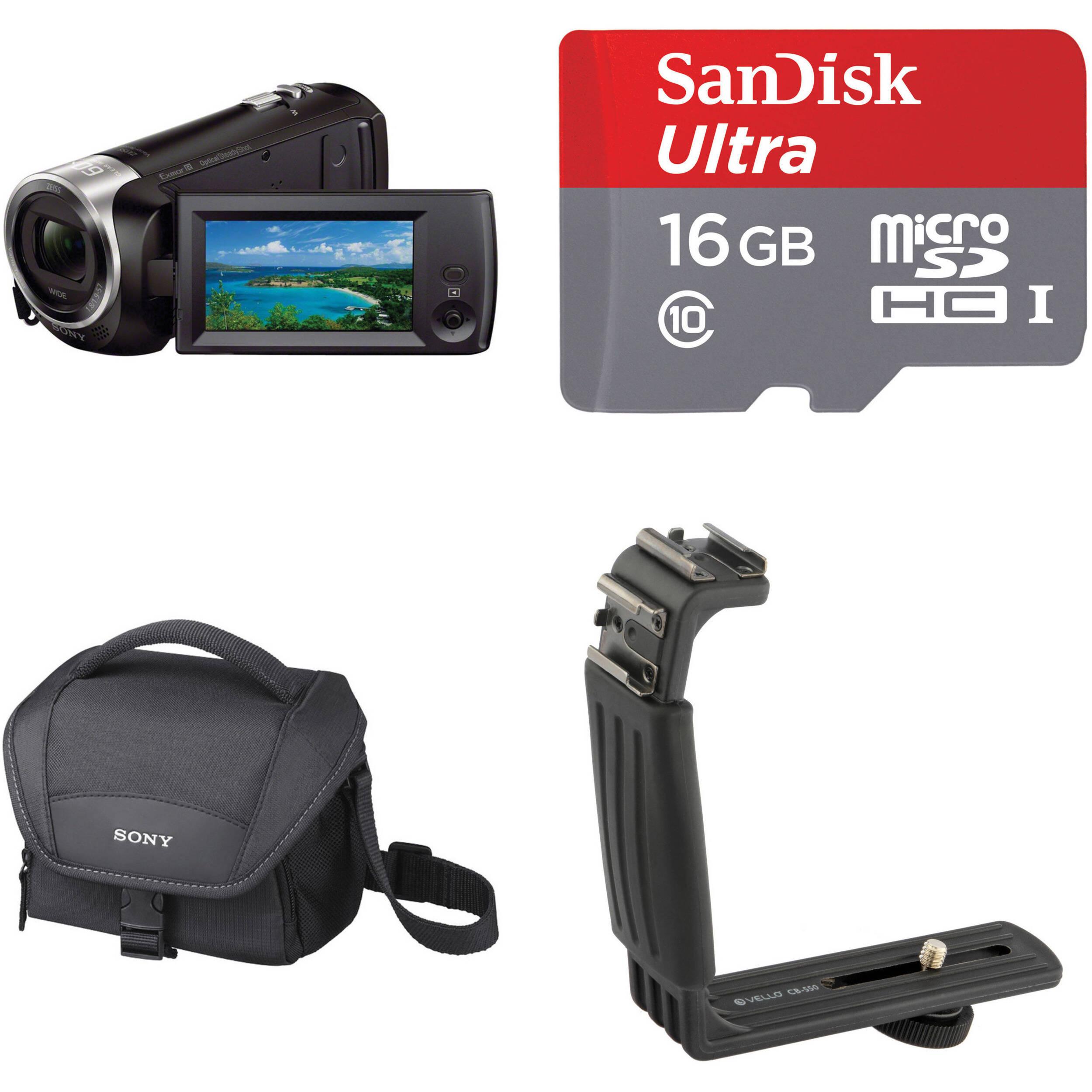 Sony Hdr Cx405 Full Hd Handycam Kit With 16gb Card B H Photo