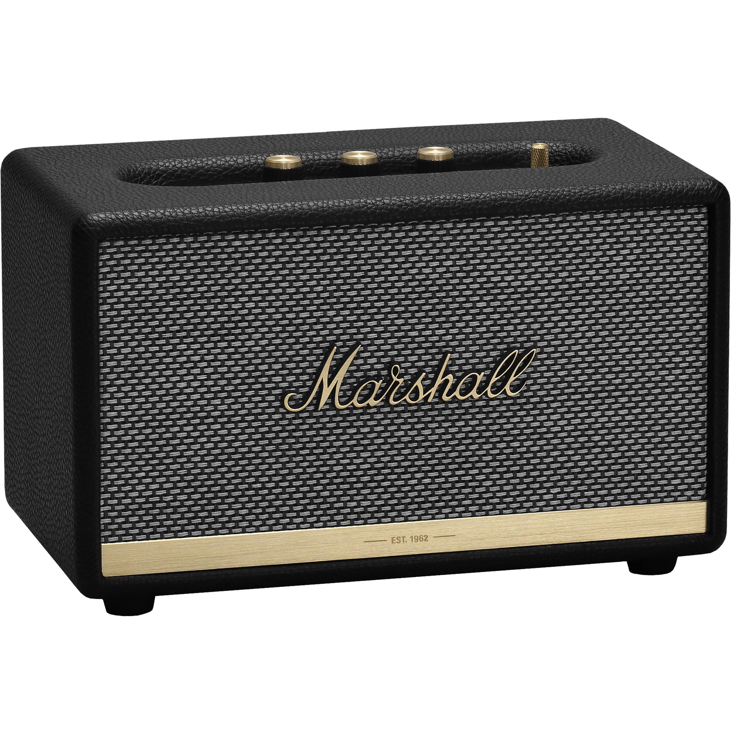 Black Marshall Acton Wireless Bluetooth Speaker System