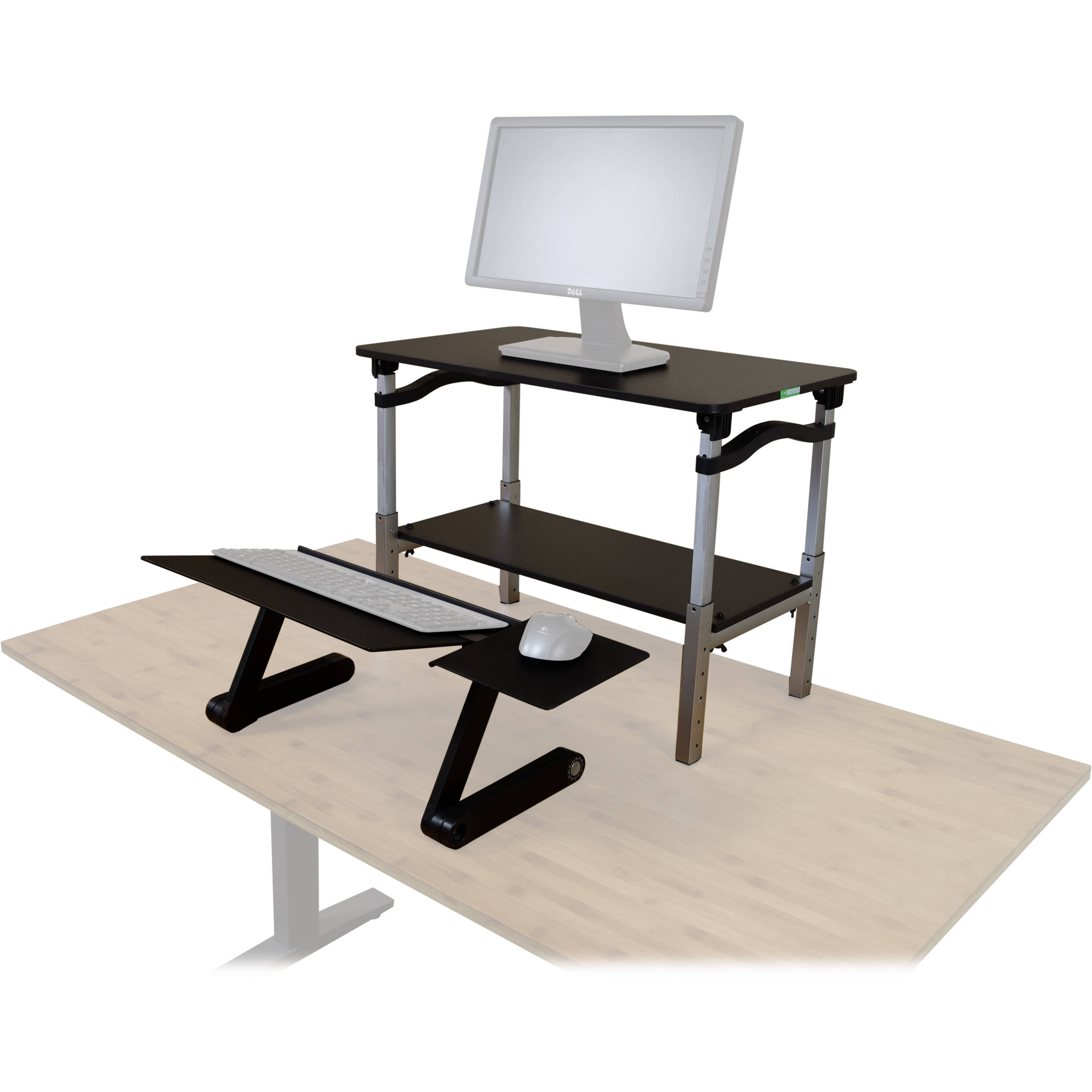 Uncaged Ergonomics Lift Standing Desk Converter (Black)