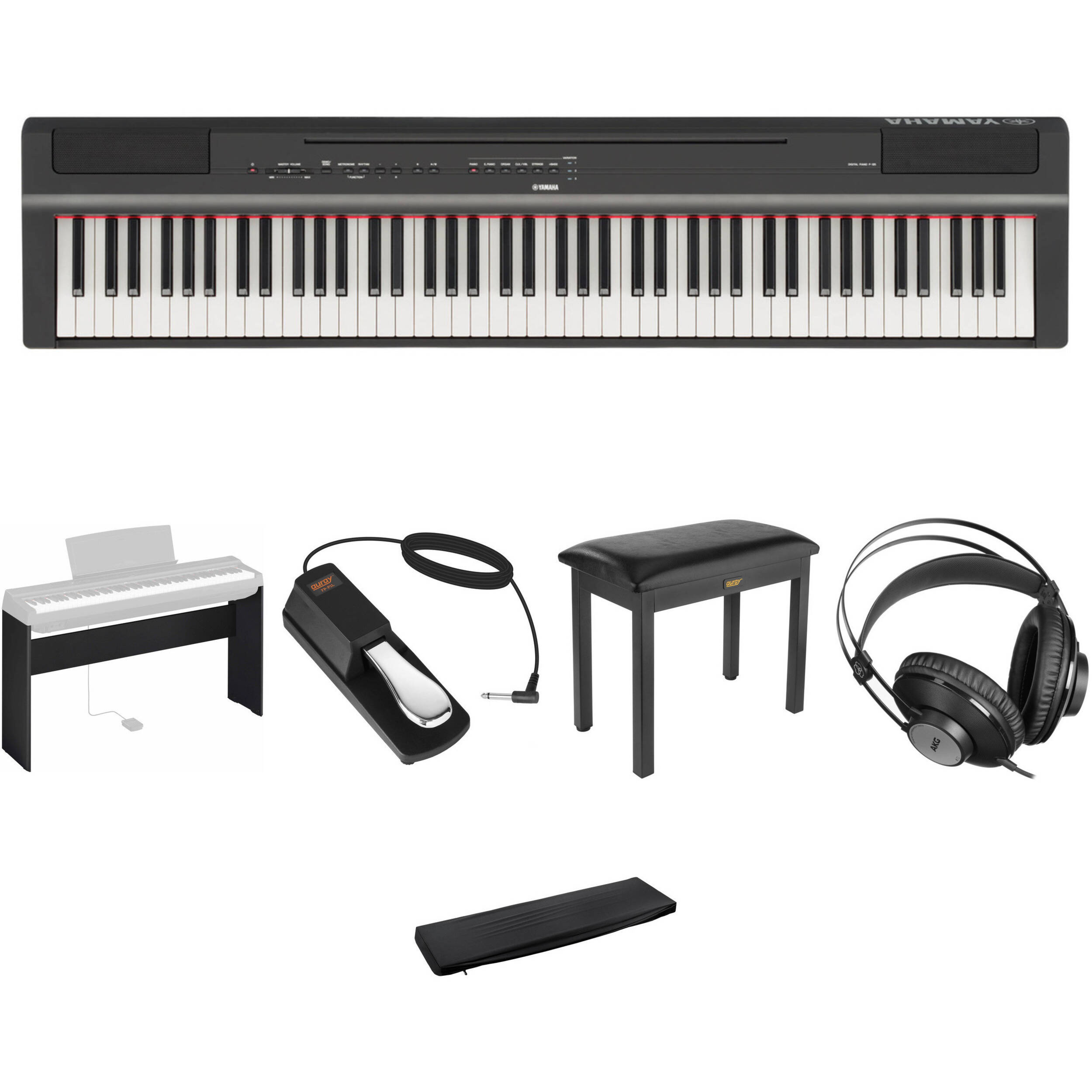 Superb Yamaha P 125 Digital Piano Bundle With Stand And Bench Black Gmtry Best Dining Table And Chair Ideas Images Gmtryco