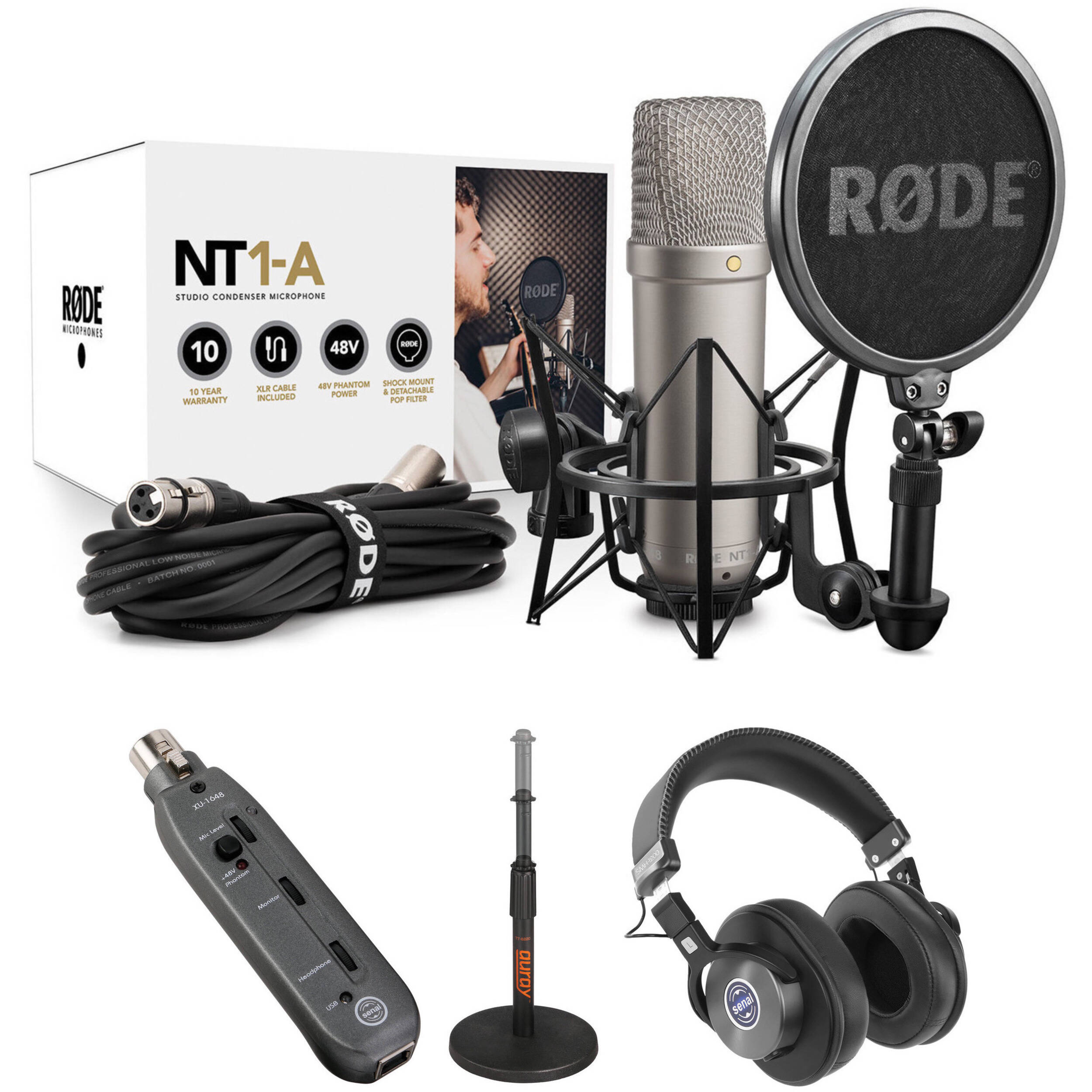Rode NT1-A Large-Diaphragm Condenser Microphone (Single)