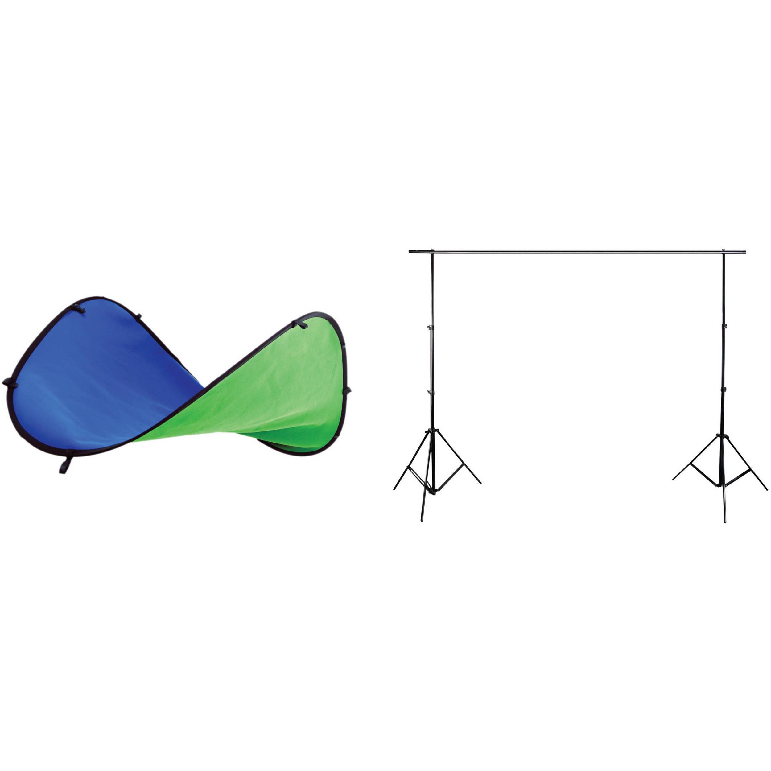 Digital Juice 5 x 7' Chroma Pop Portable Blue Green Screen Studio with  Stand Kit