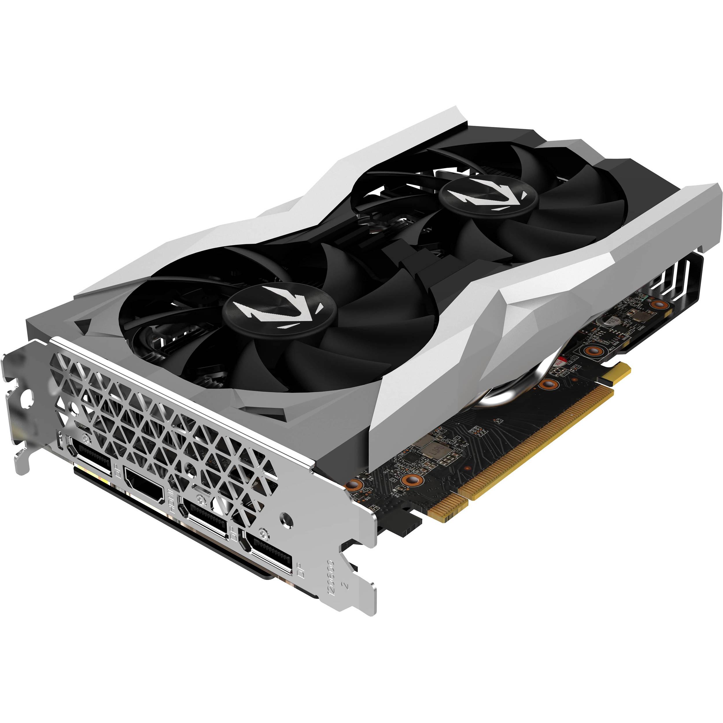 ZOTAC GAMING GEFORCE RTX2060, 6GB GDDR6, 192 bit, 1680/14000, HDCP, Three DP, HDMI, Medium pack