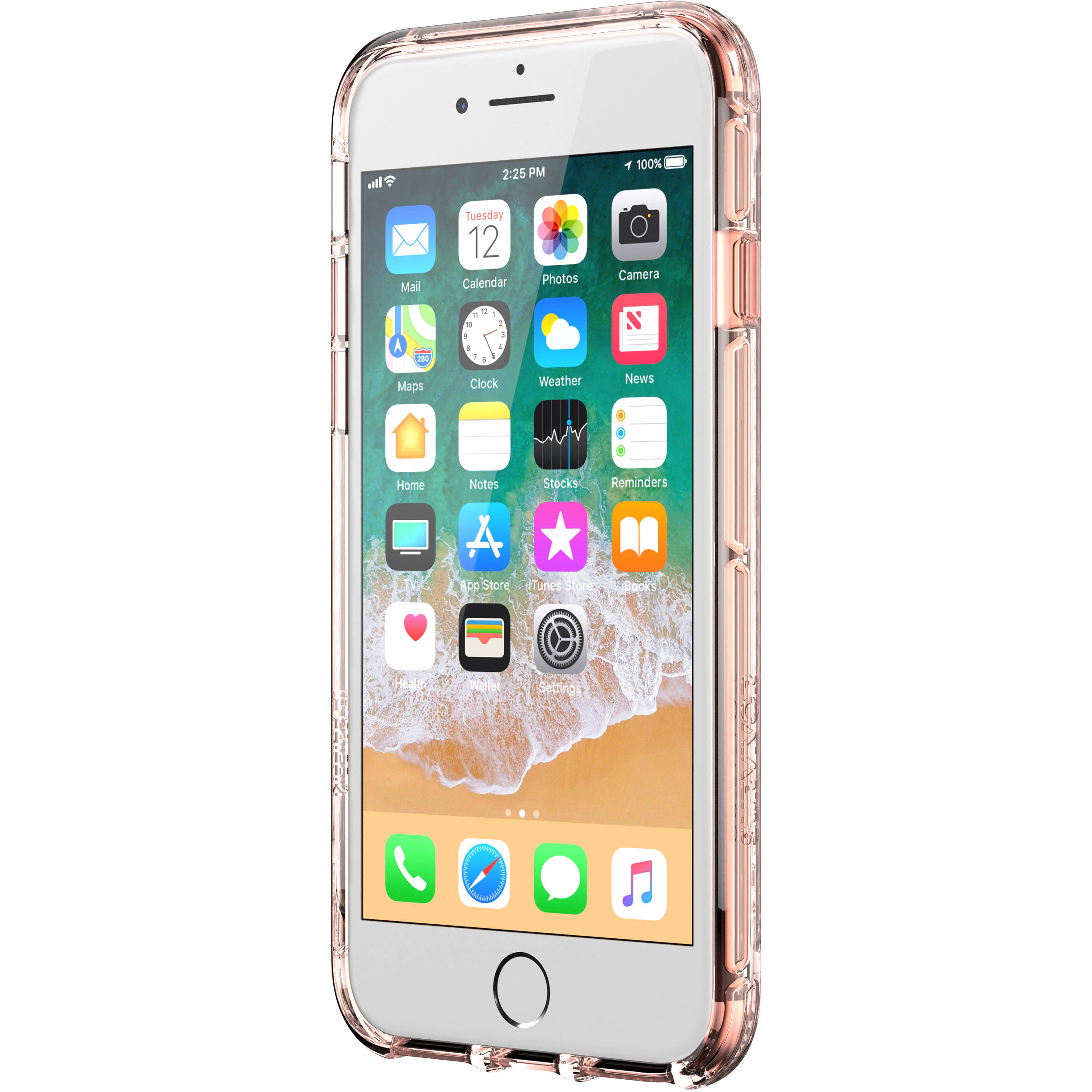 official photos 7a1e5 322c2 Griffin Technology Survivor Clear Case for iPhone 8 (Rose Gold/Clear)
