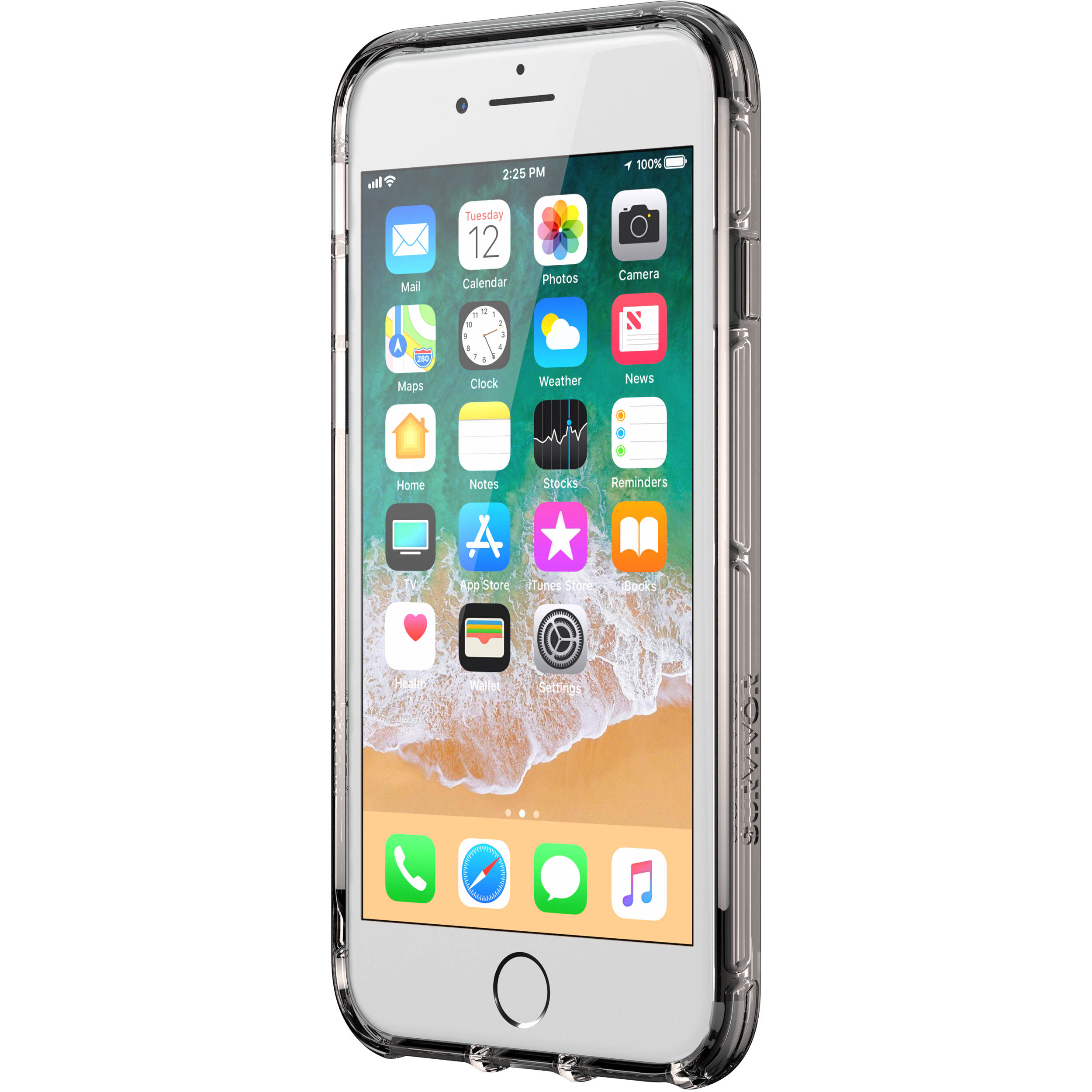 best sneakers 0bbdc 3ce4f Griffin Technology Survivor Clear Case for iPhone 8 (Black/Smoke/Clear)