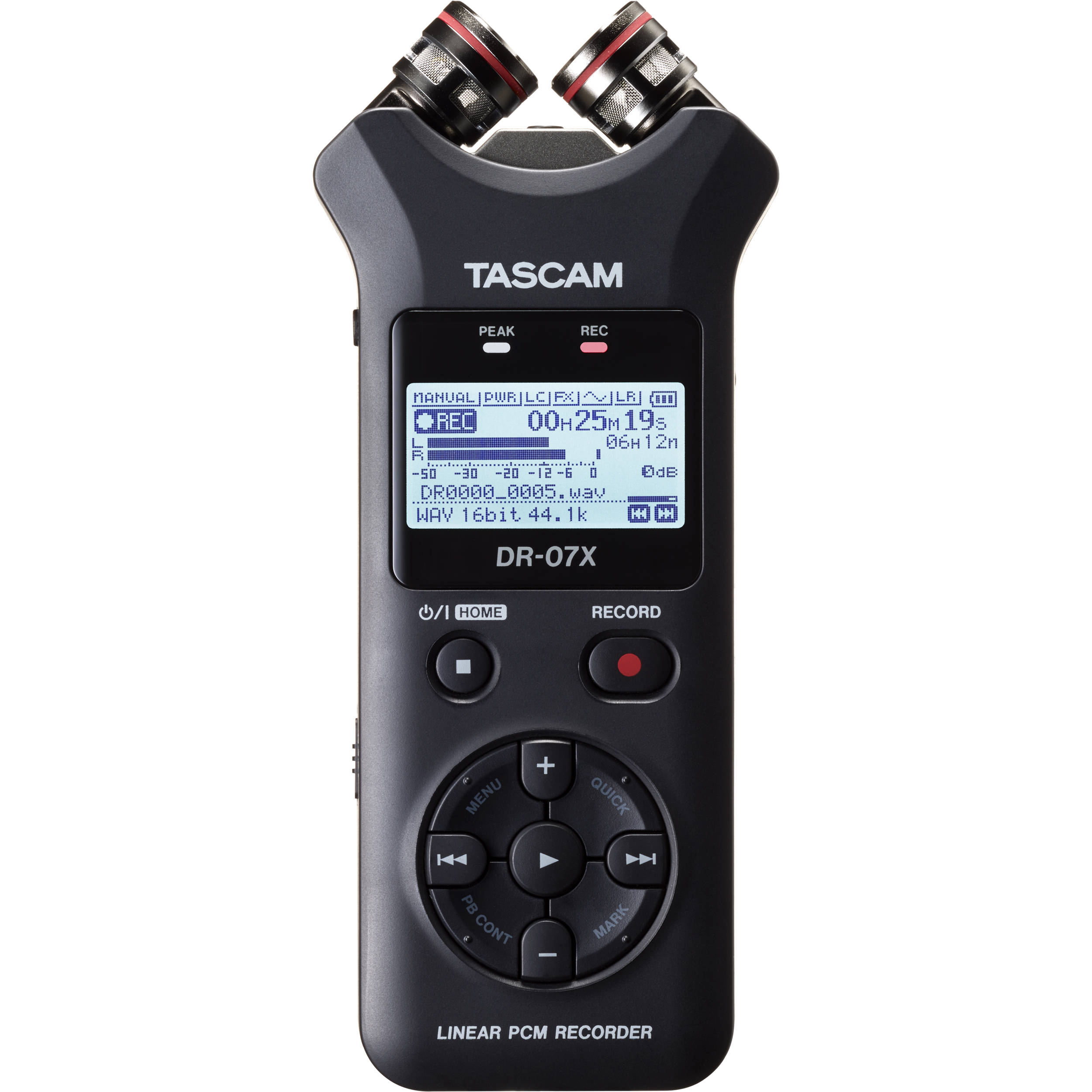 Tascam Dr 07x 2 Input 2 Track Portable Audio Recorder Dr 07x