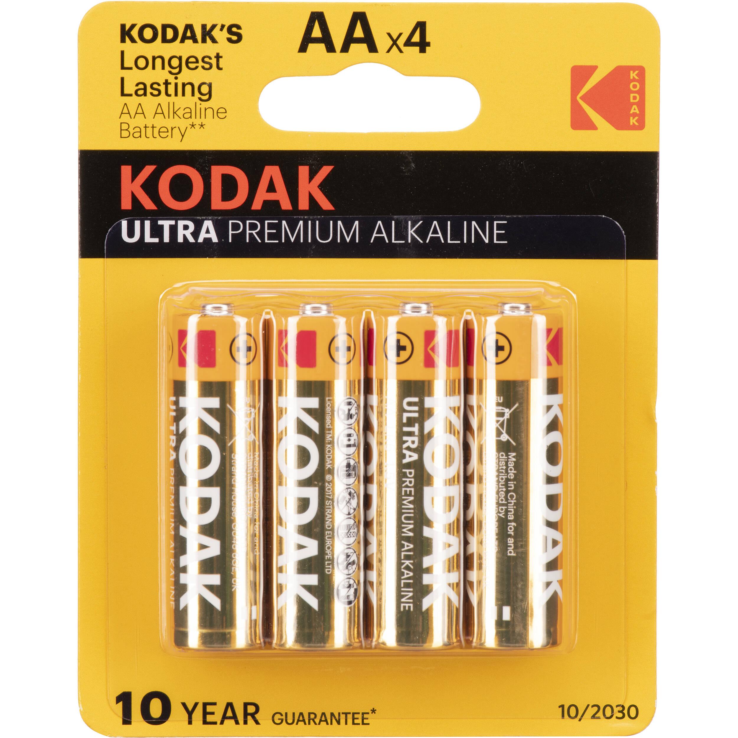 Kodak AA 1 5v Ultra Digital Oxy-Alkaline Battery (4 Pack)