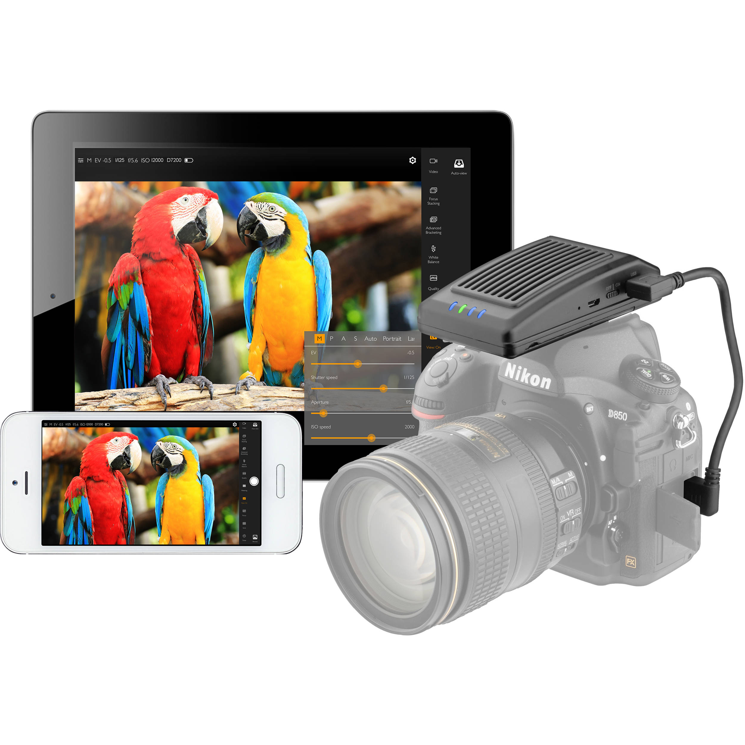 Vello LW-500 Extendá Plus Wi-Fi Camera Controller for Select Canon, Nikon,  and Sony Cameras