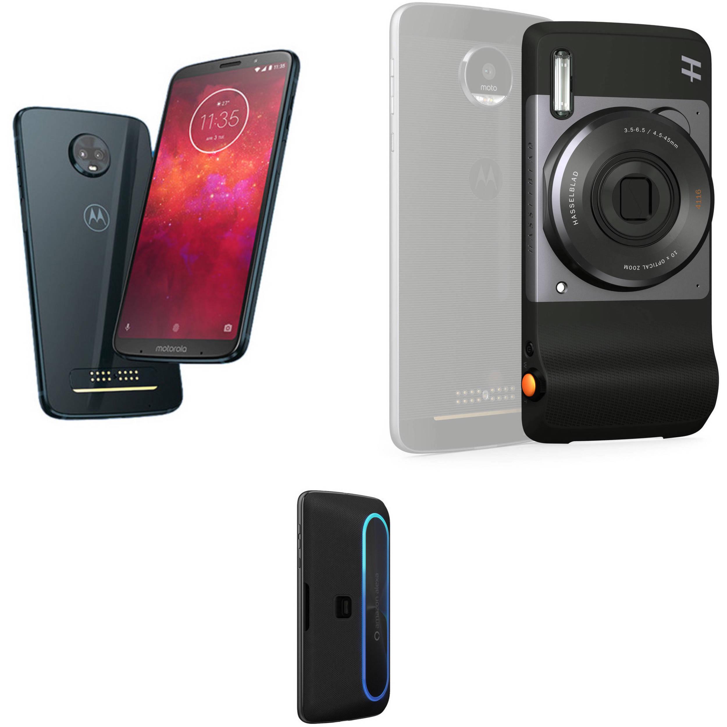 buy online c33df b9b75 Moto Z3 Play 64GB Smartphone with Camera/Speaker Moto Mods