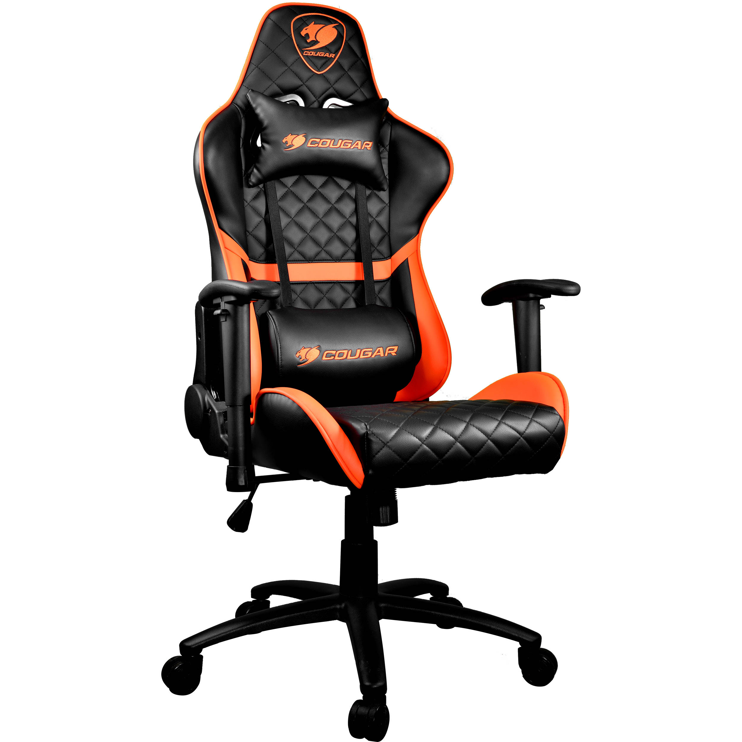 Astonishing Cougar Armor One Gaming Chair Black And Orange Andrewgaddart Wooden Chair Designs For Living Room Andrewgaddartcom