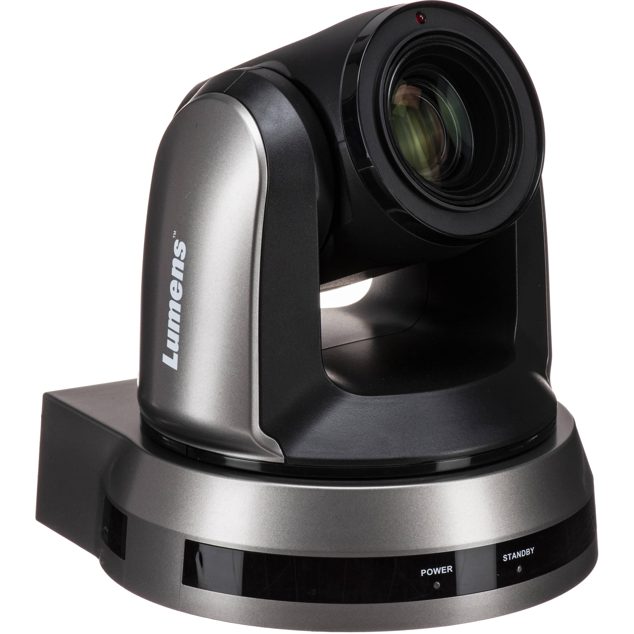 Lumens 4K UHD 12x Optical Zoom PTZ Video Camera (Black)