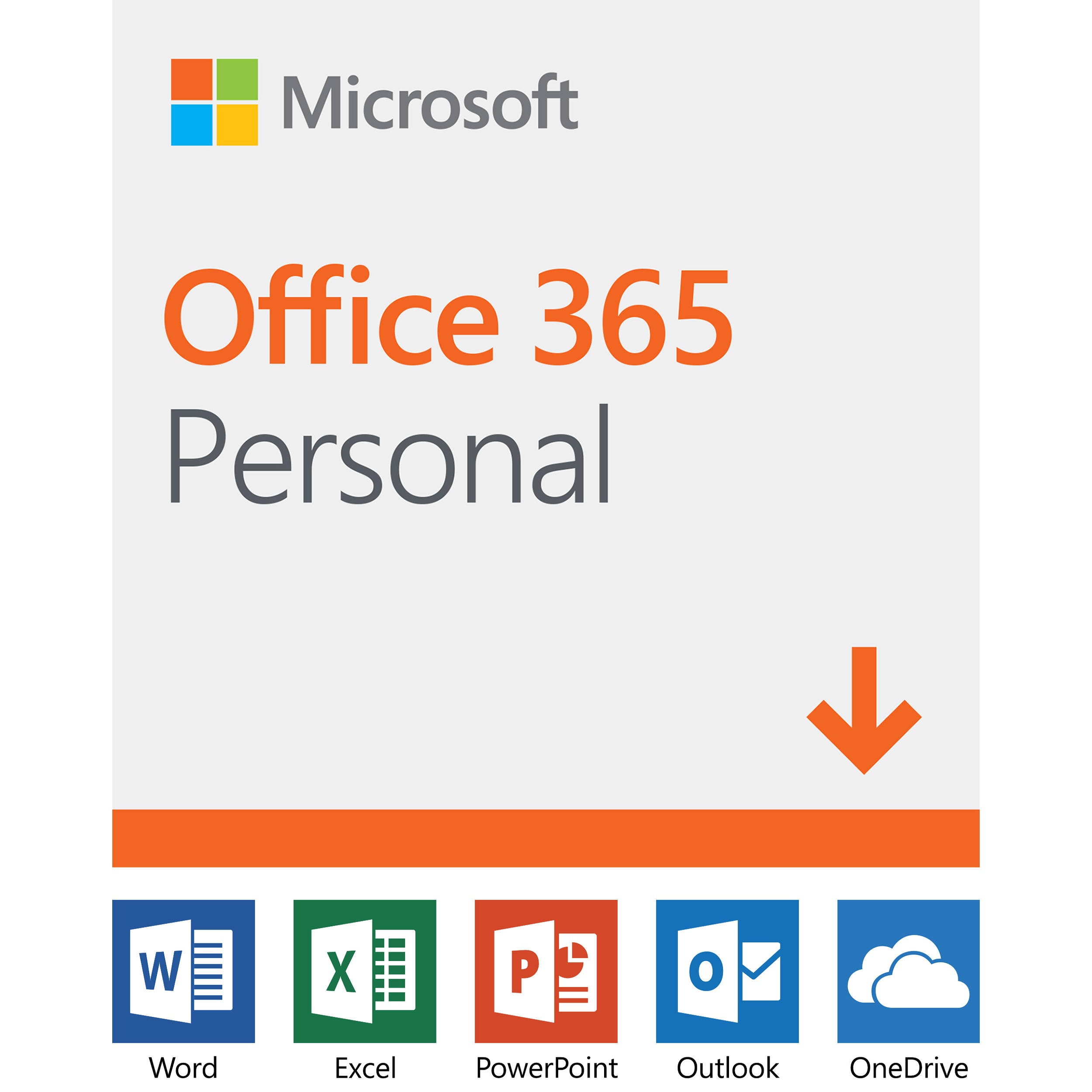 Microsoft Office 365 Personal (1-User License / 12-Month Subscription /  Download)