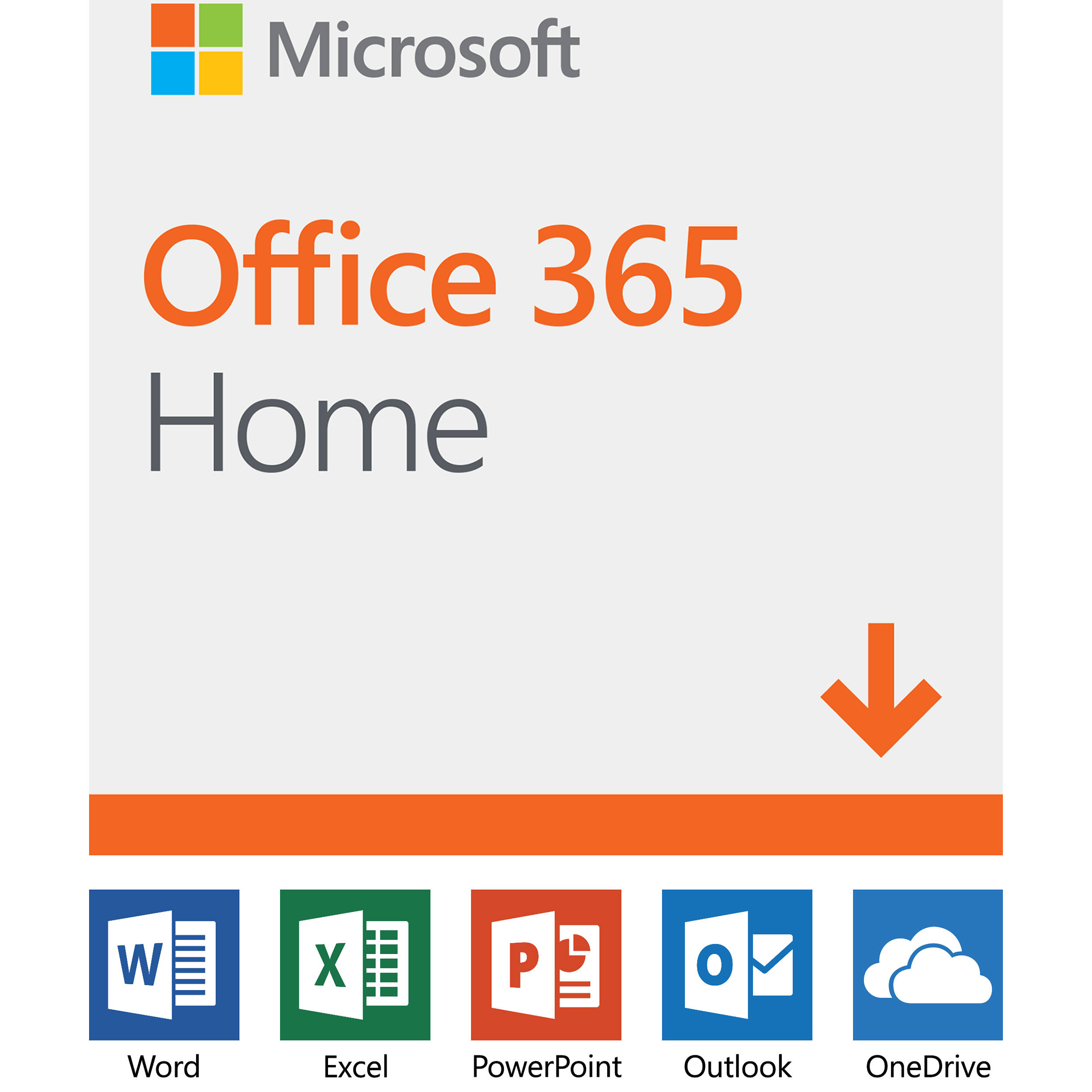 Microsoft Office 365 Home (6 PC or Mac Licenses / 12-Month Subscription /  Download)