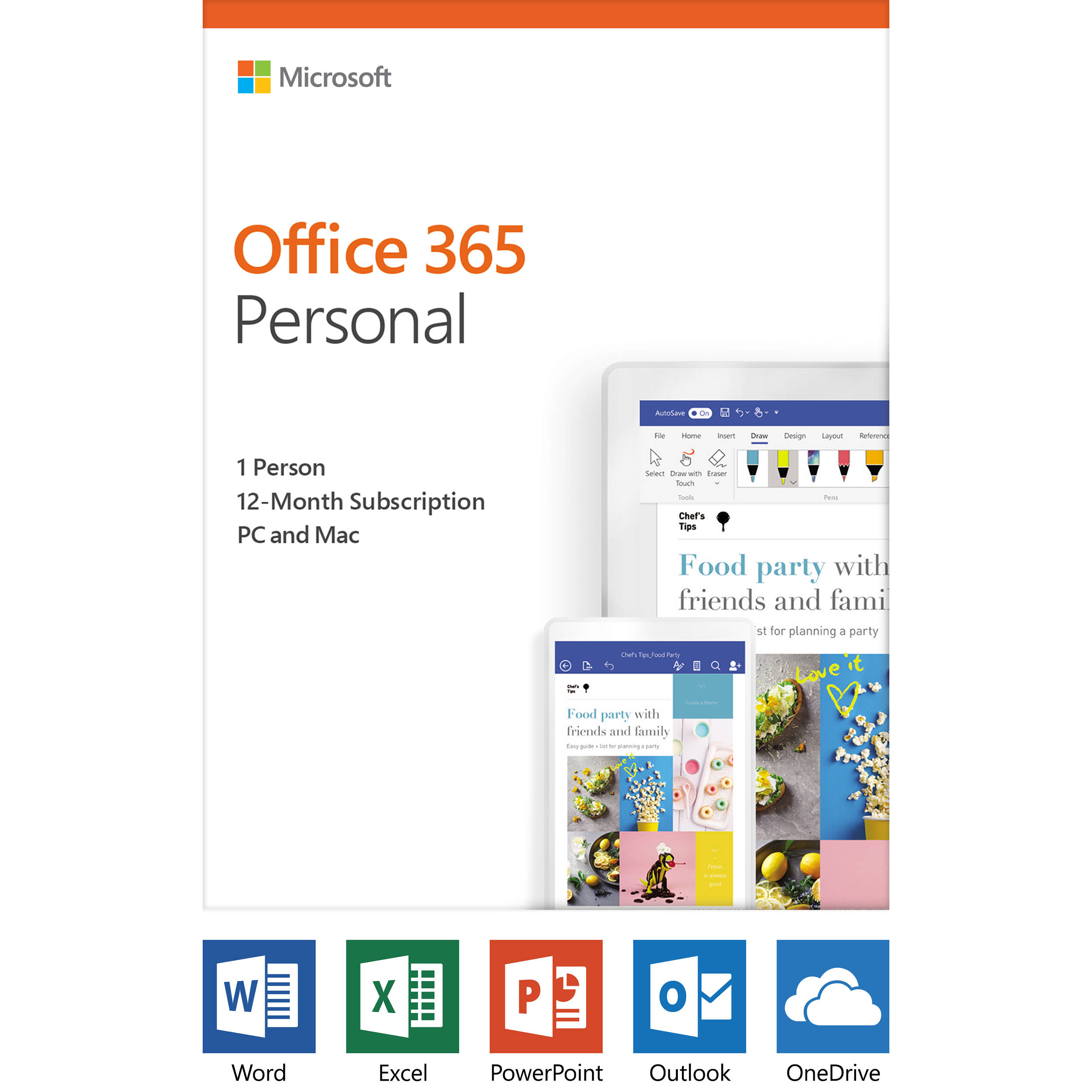 Microsoft Office 365 Personal (1-User License / 12-Month Subscription /  Product Key Code)