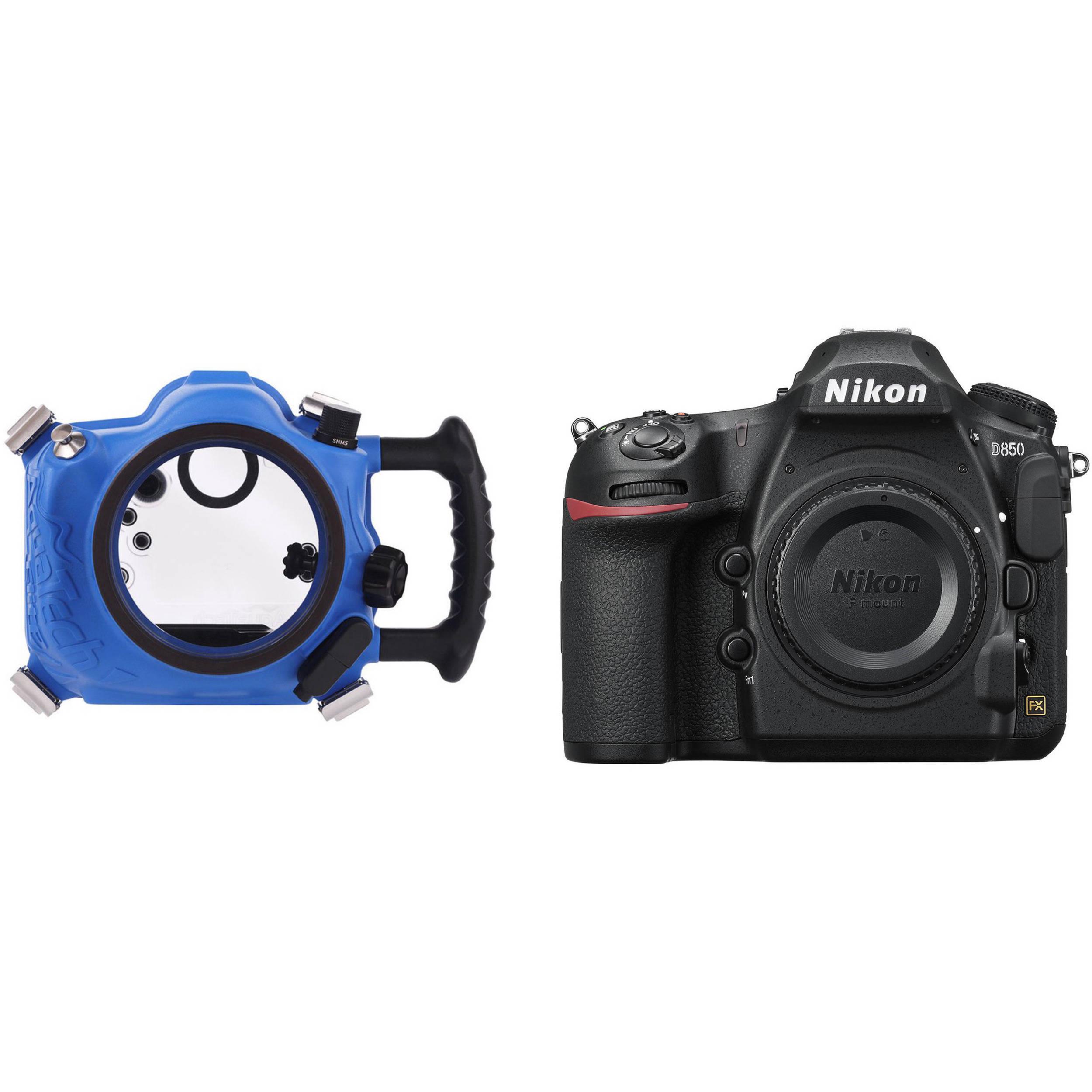 AquaTech Elite Underwater Housing and Nikon D850 DSLR Camera Body Kit