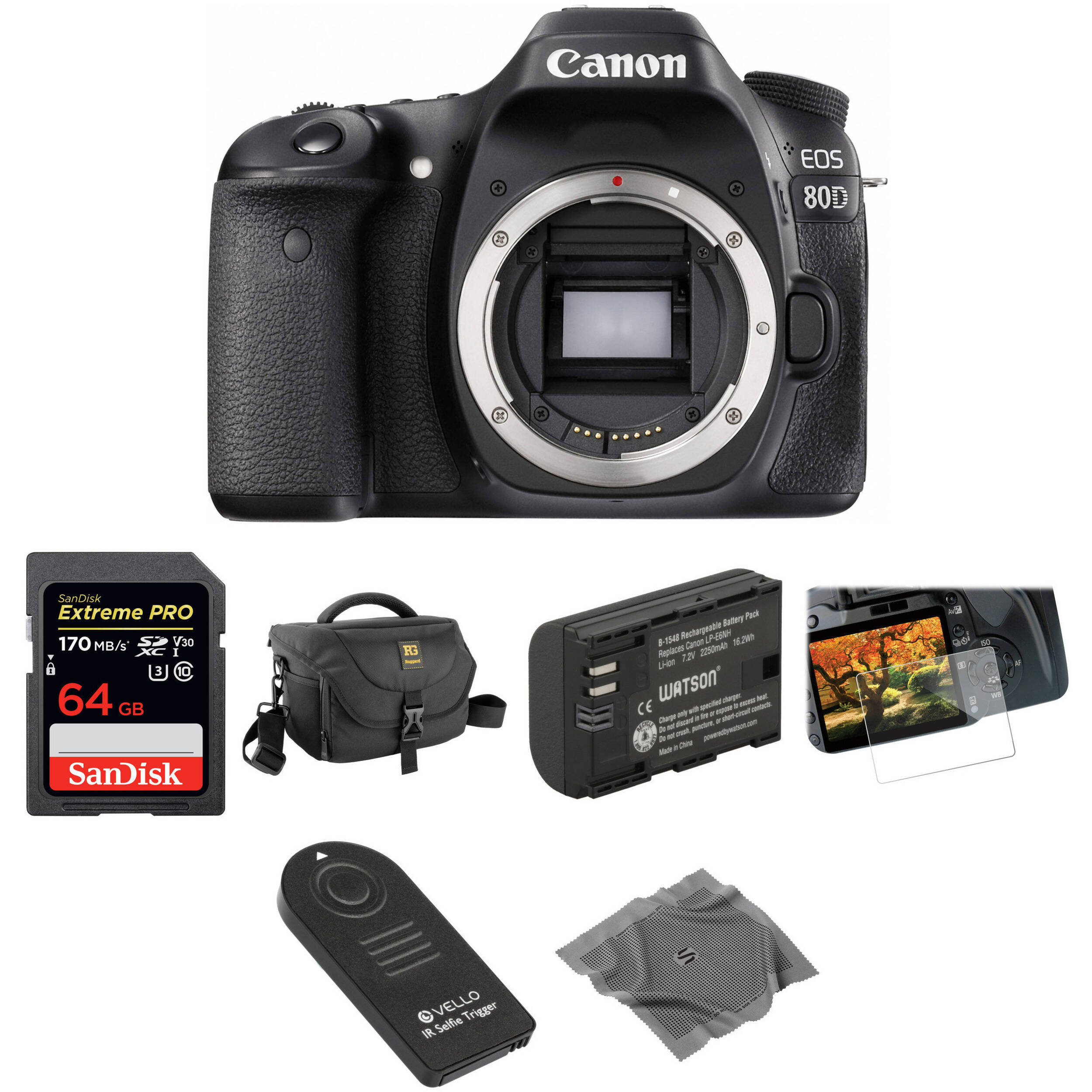 Canon EOS 80D DSLR Camera Basic Kit