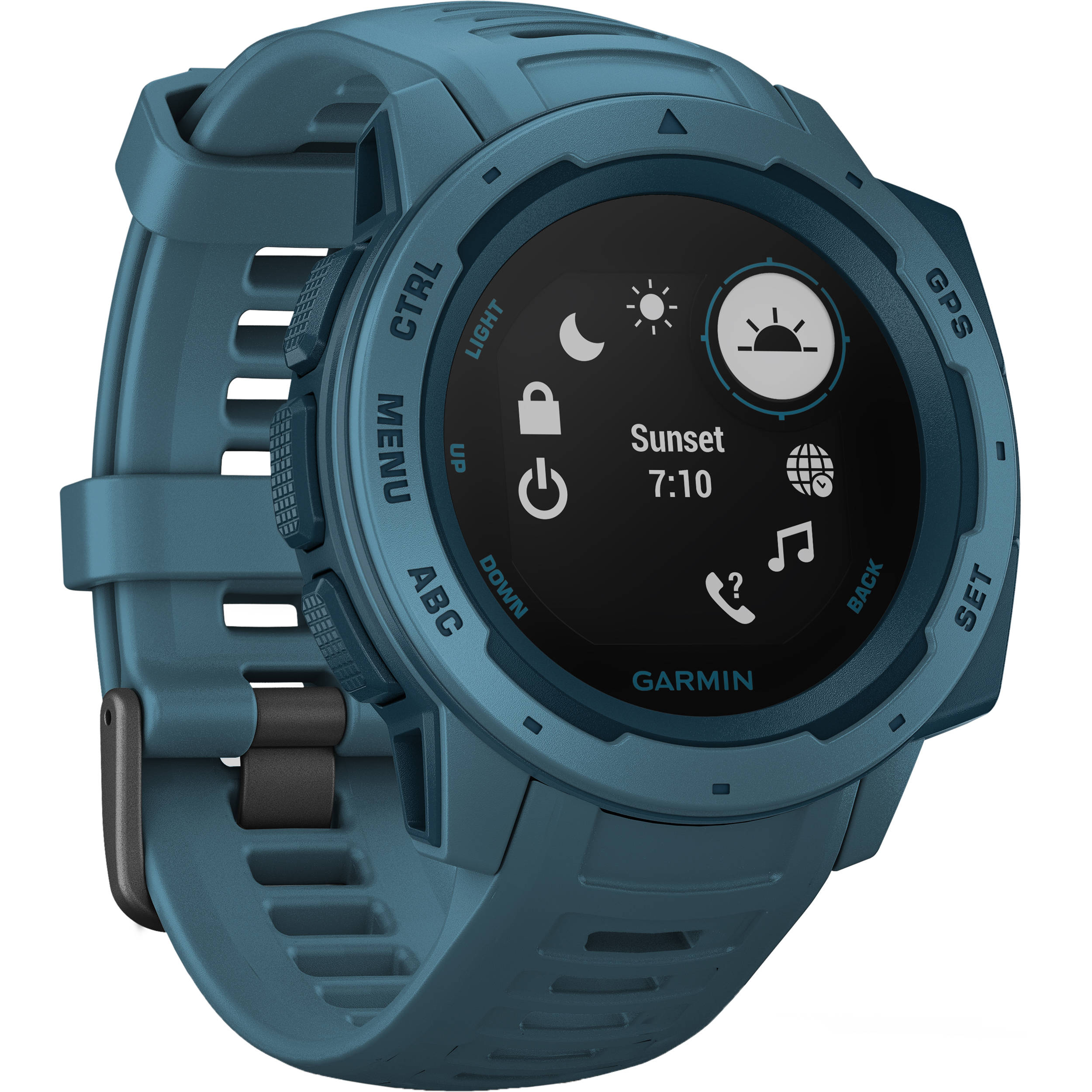 Garmin Gps Watch >> Garmin Instinct Outdoor Gps Watch Lakeside Blue