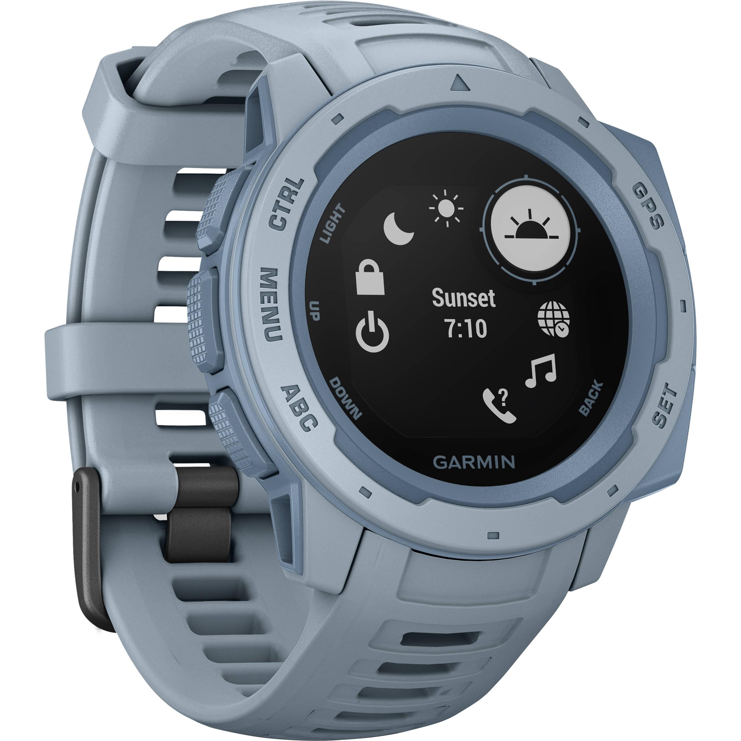 Garmin Gps Watch >> Garmin Instinct Outdoor Gps Watch Sea Foam