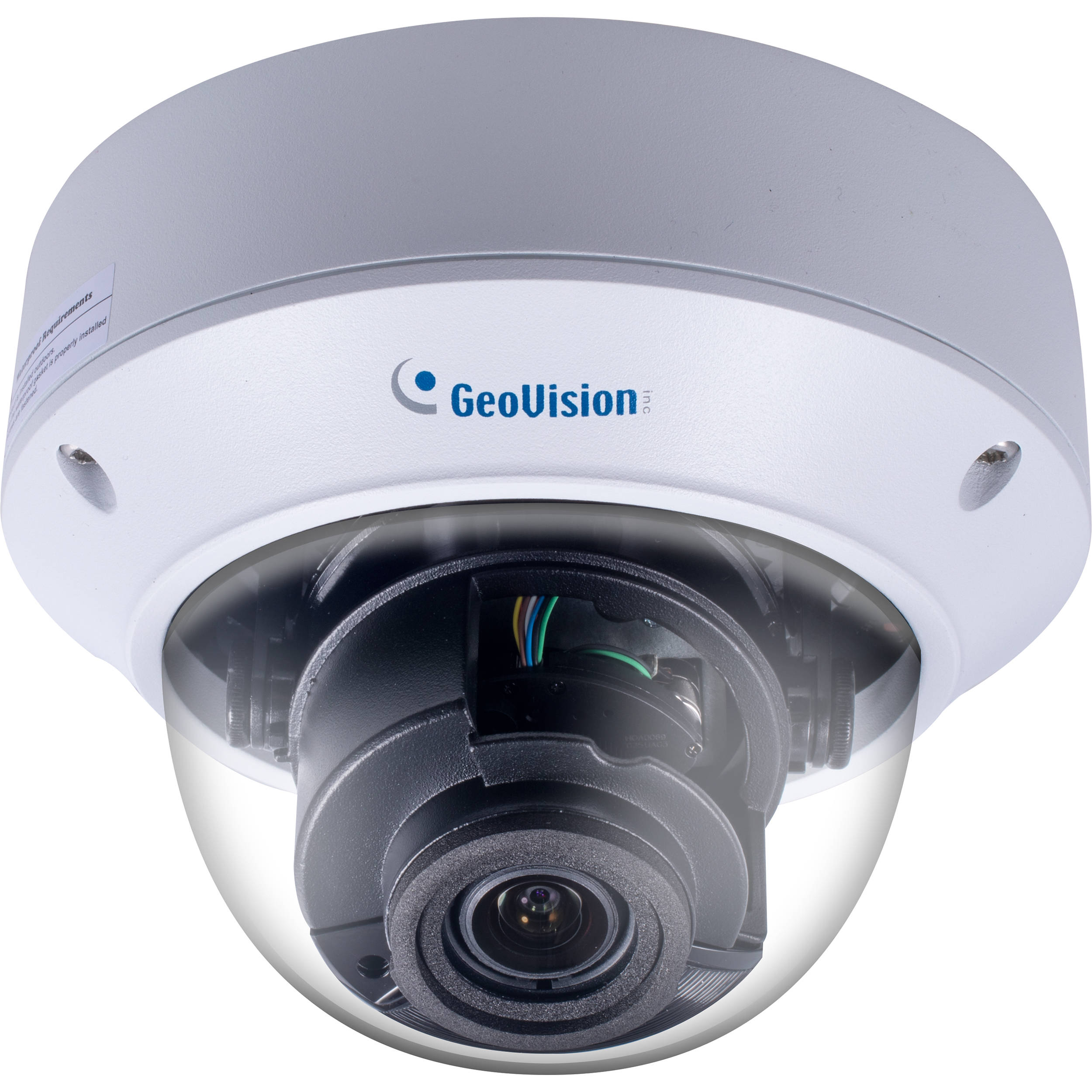 GEOVISION GV-AVD4710 4MP Outdoor Network Dome Camera with 2 8-12mm Lens &  Night Vision