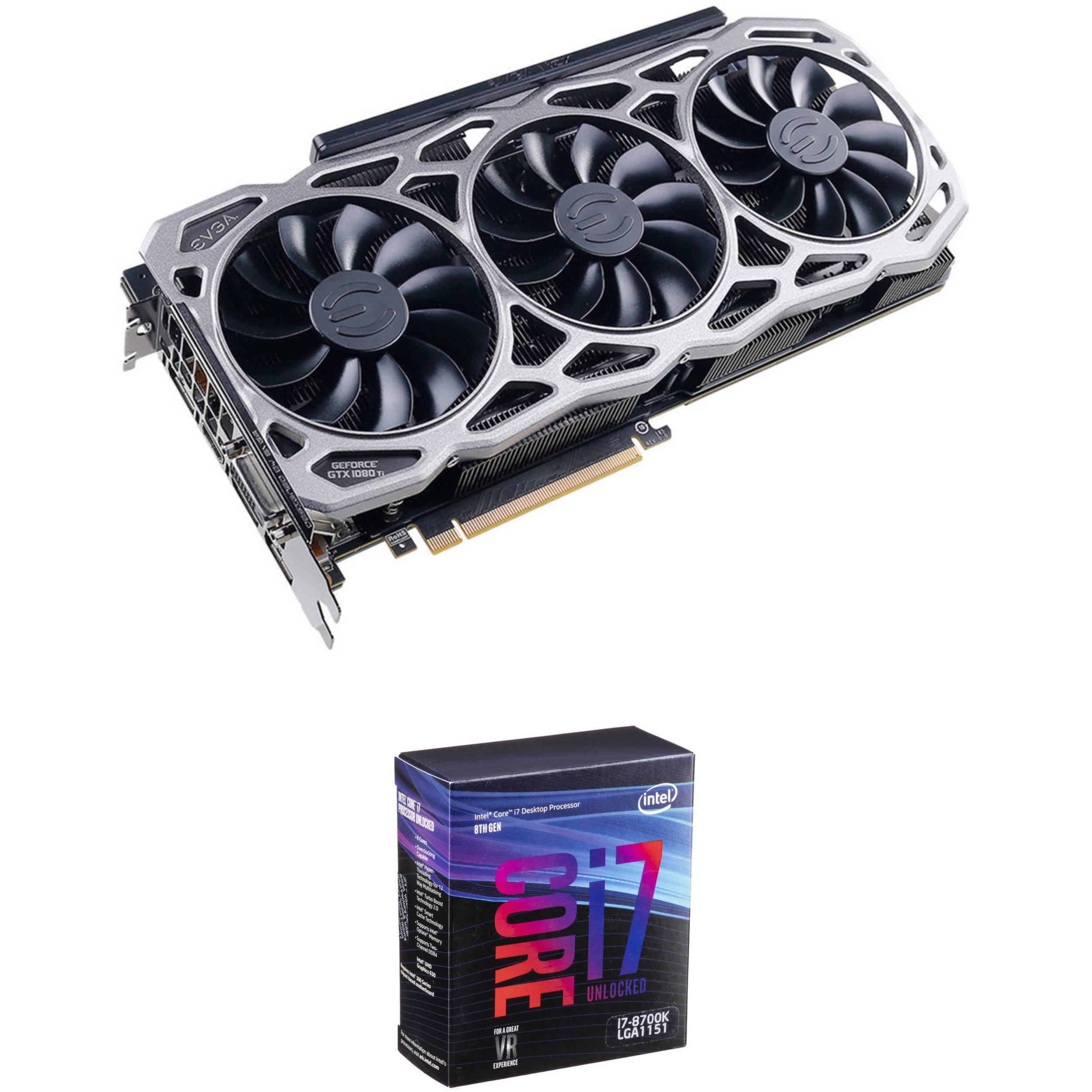 EVGA GeForce GTX 1080 Ti FTW3 GAMING Graphics Card & Intel Core i7-8700K  6-Core Processor Kit