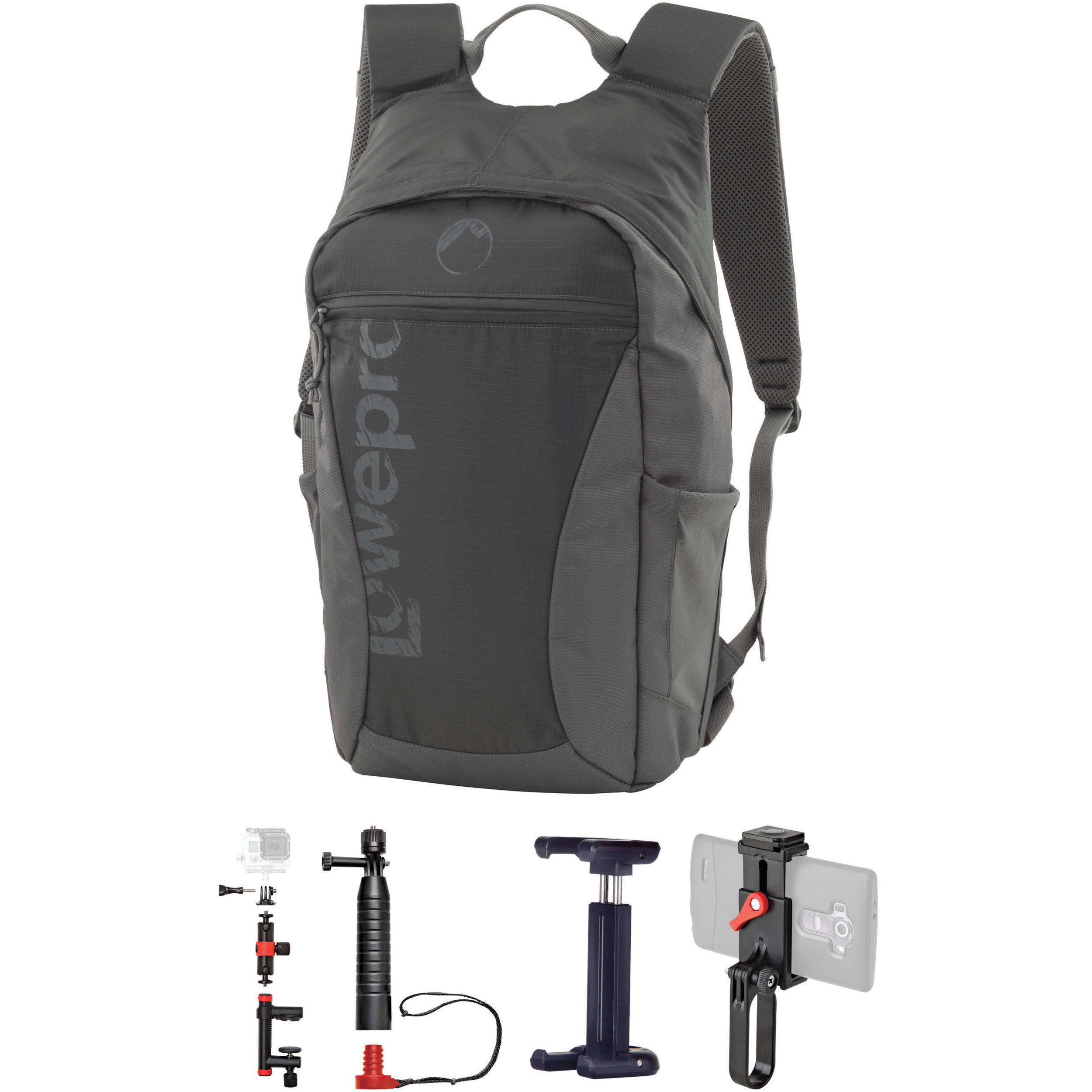 Lowepro Photo Hatchback 16L AW Backpack & Joby Accessories Kit (Slate Gray)