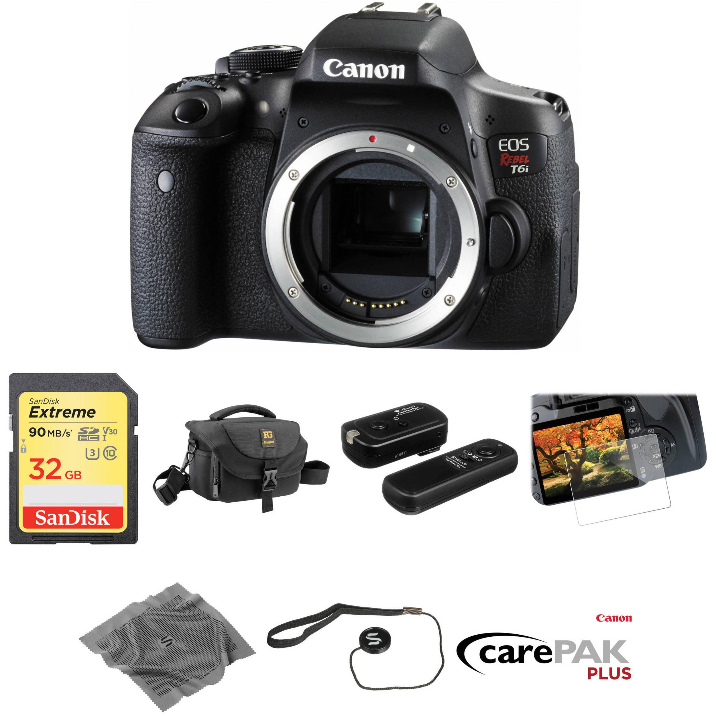 Canon EOS Rebel T6i DSLR Camera Body Deluxe Kit