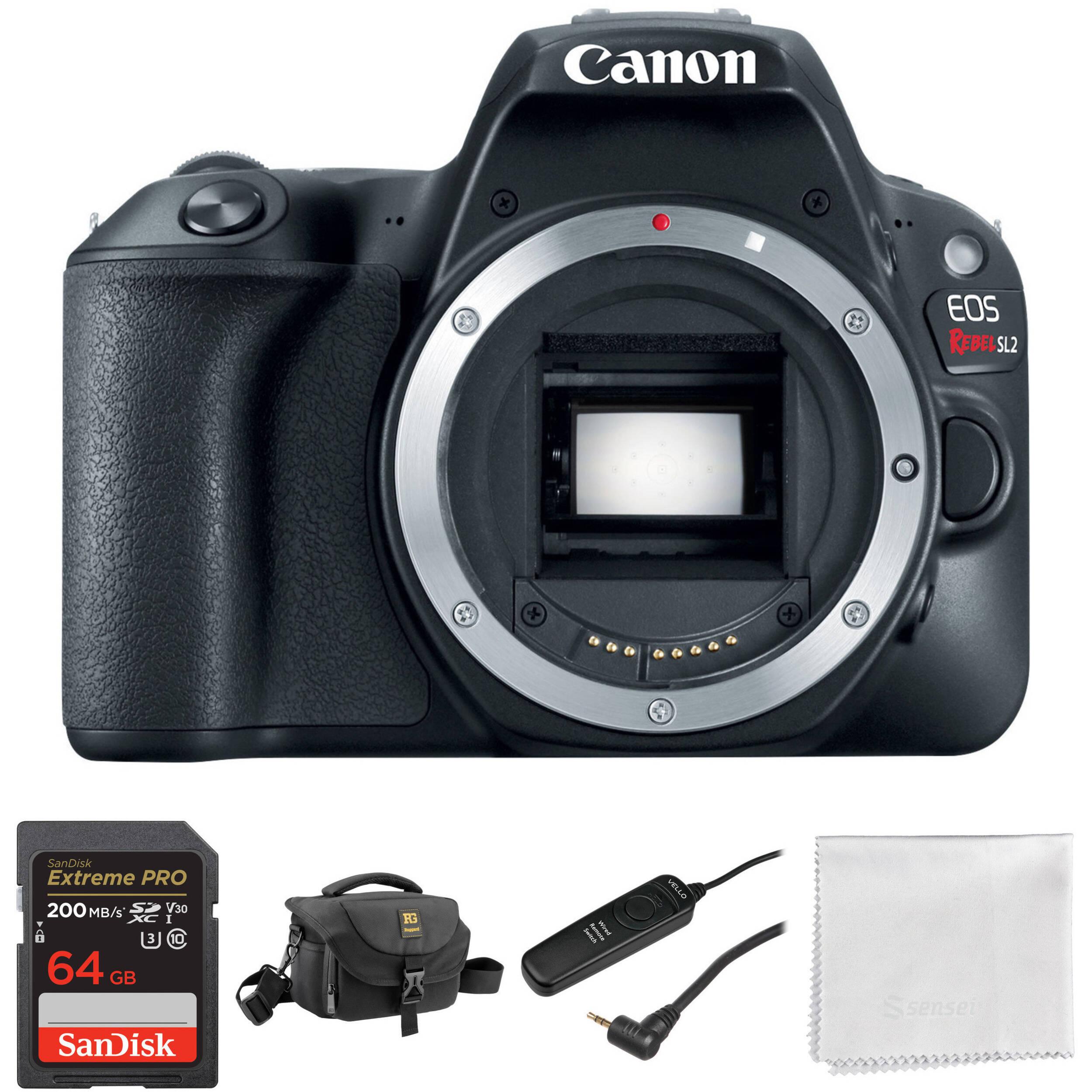 Canon EOS Rebel SL2 DSLR Camera Body Basic Kit
