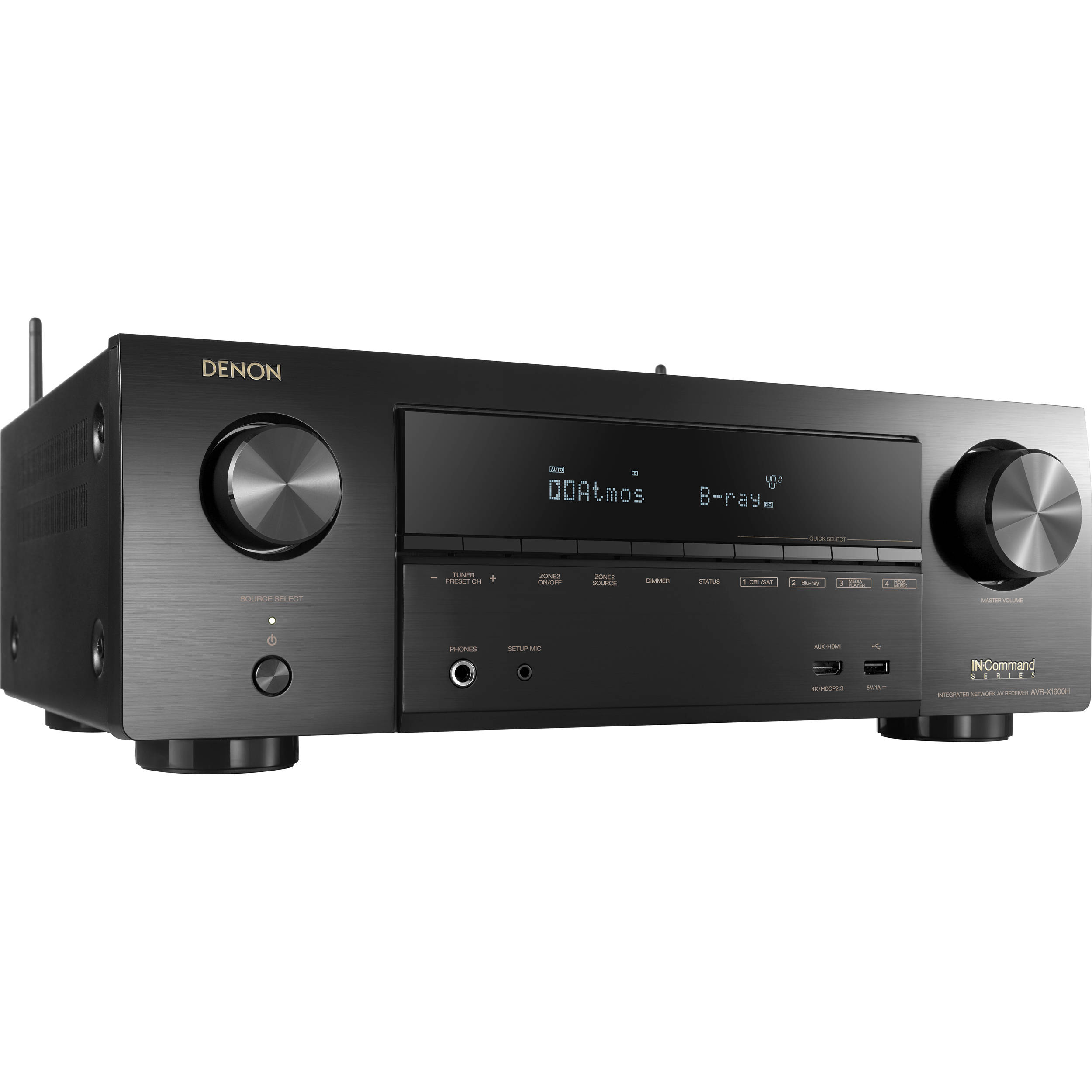 Denon AVR-X1600H 7 2-Channel Network A/V Receiver