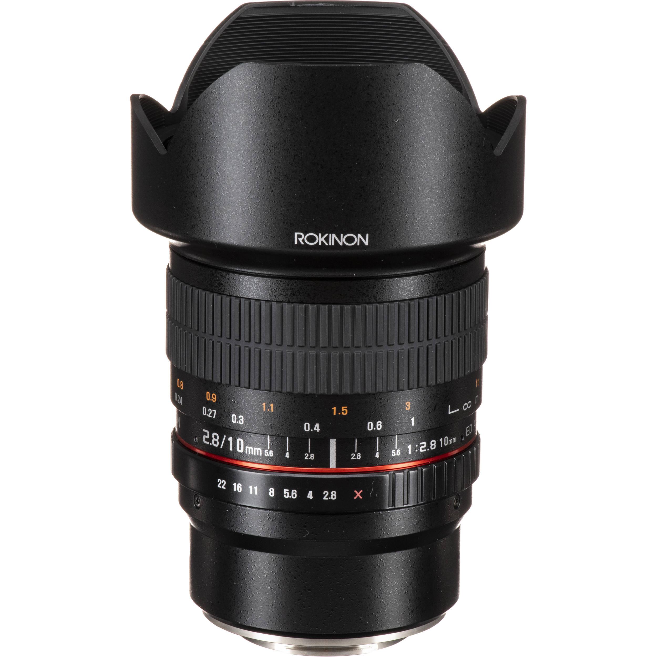 Rokinon 10mm f/2 8 ED AS NCS CS Lens for Fujifilm X Mount