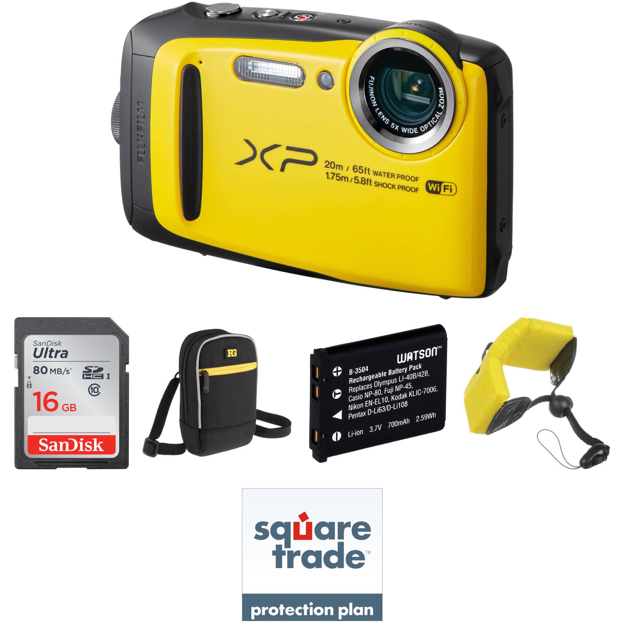 Fujifilm Finepix Xp120 Digital Camera Deluxe Kit Yellow B H