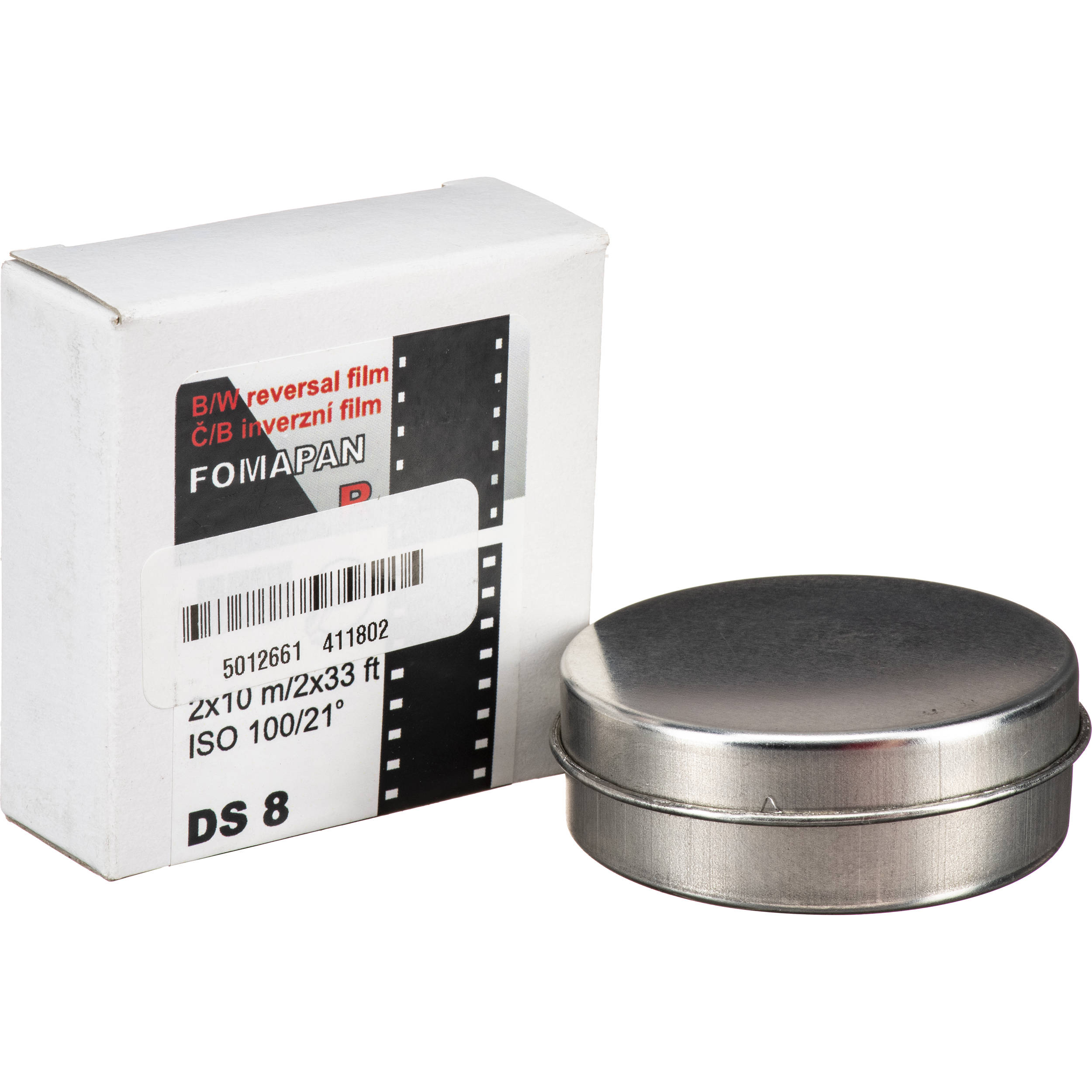 Fomapan R100 Black and White Transparency Film (Double Super 8, 32 8' Reel)