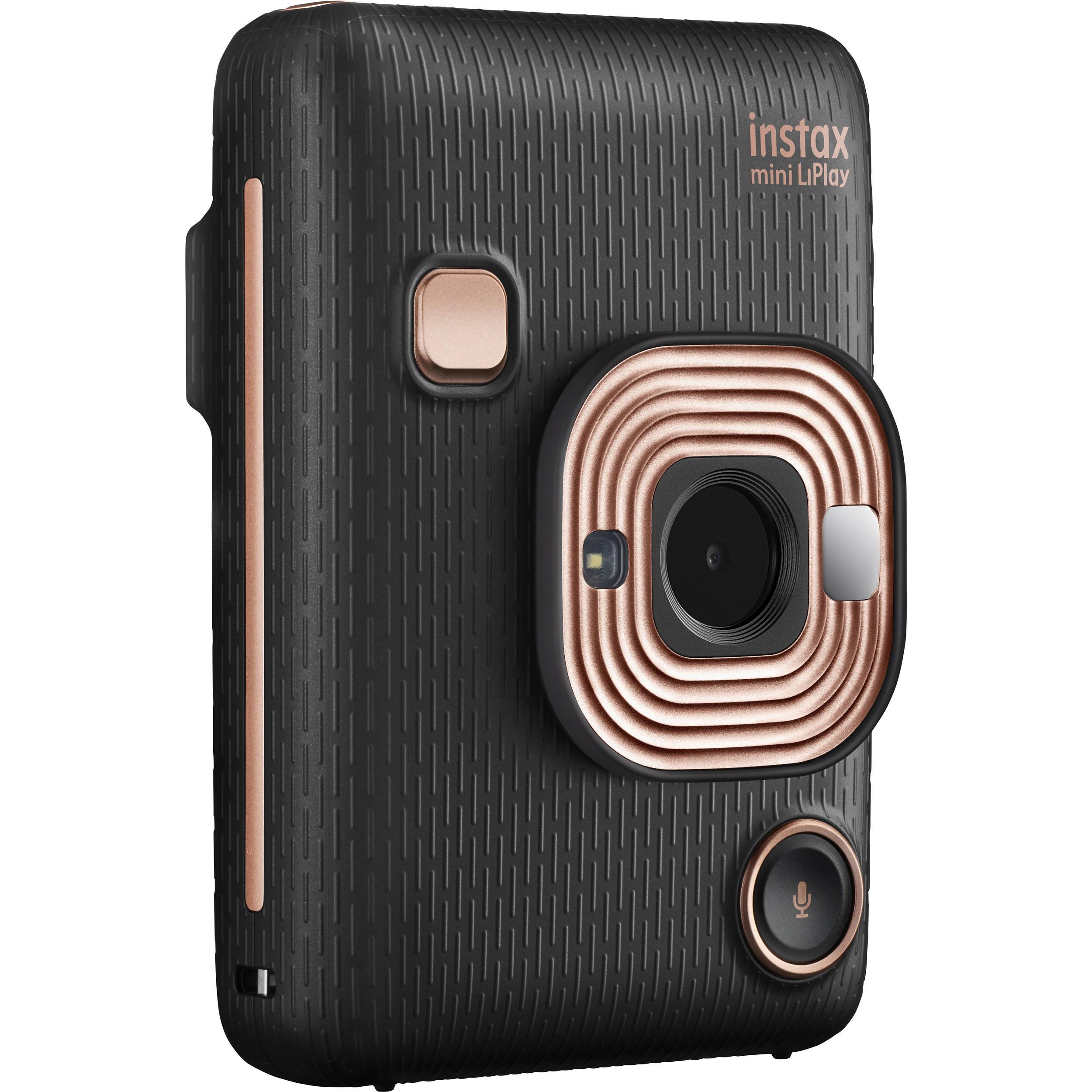 online store 46506 f1d4b FUJIFILM INSTAX Mini LiPlay Hybrid Instant Camera (Elegant Black)