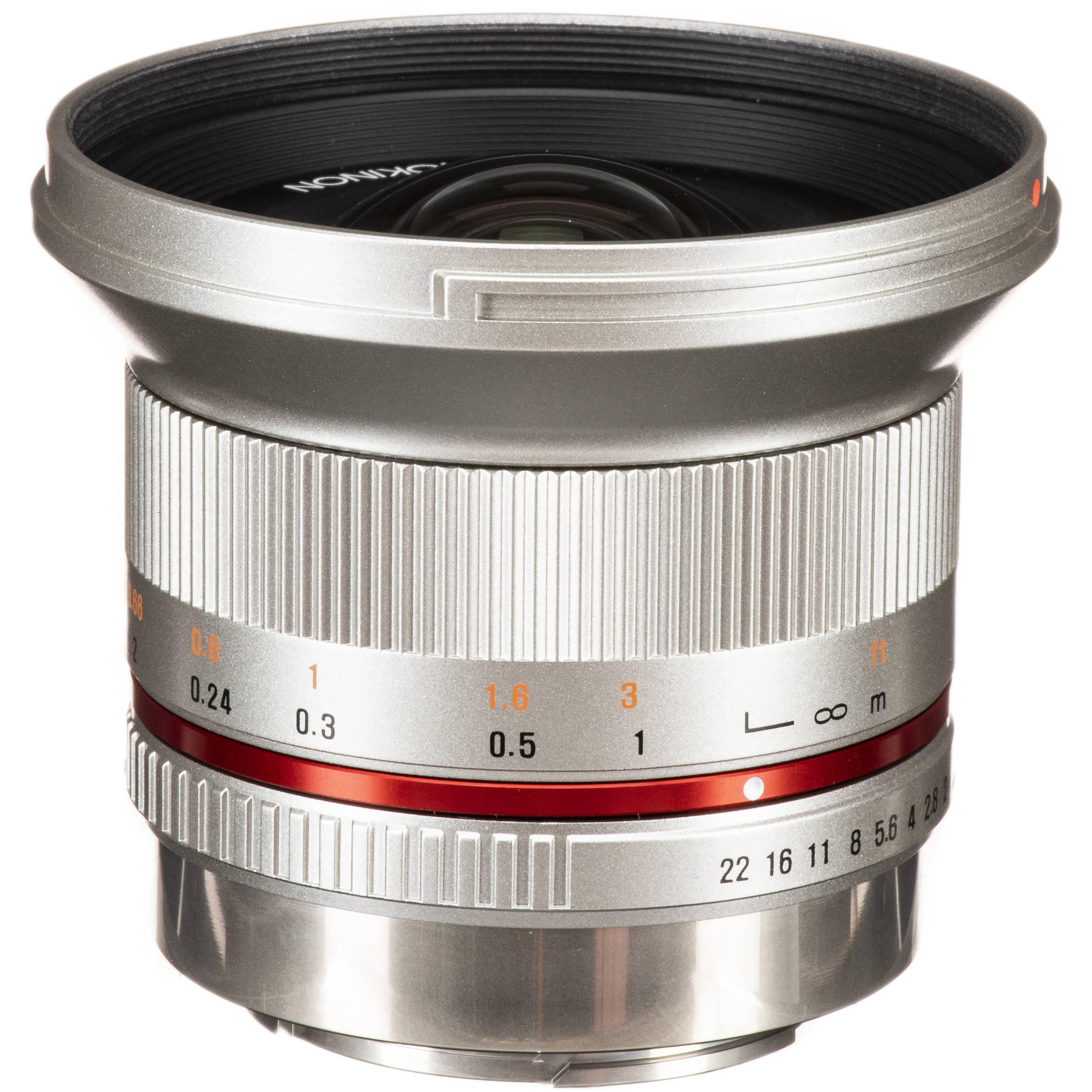 Rokinon 12mm f/2 0 NCS CS Lens for Fujifilm X Mount (Silver)