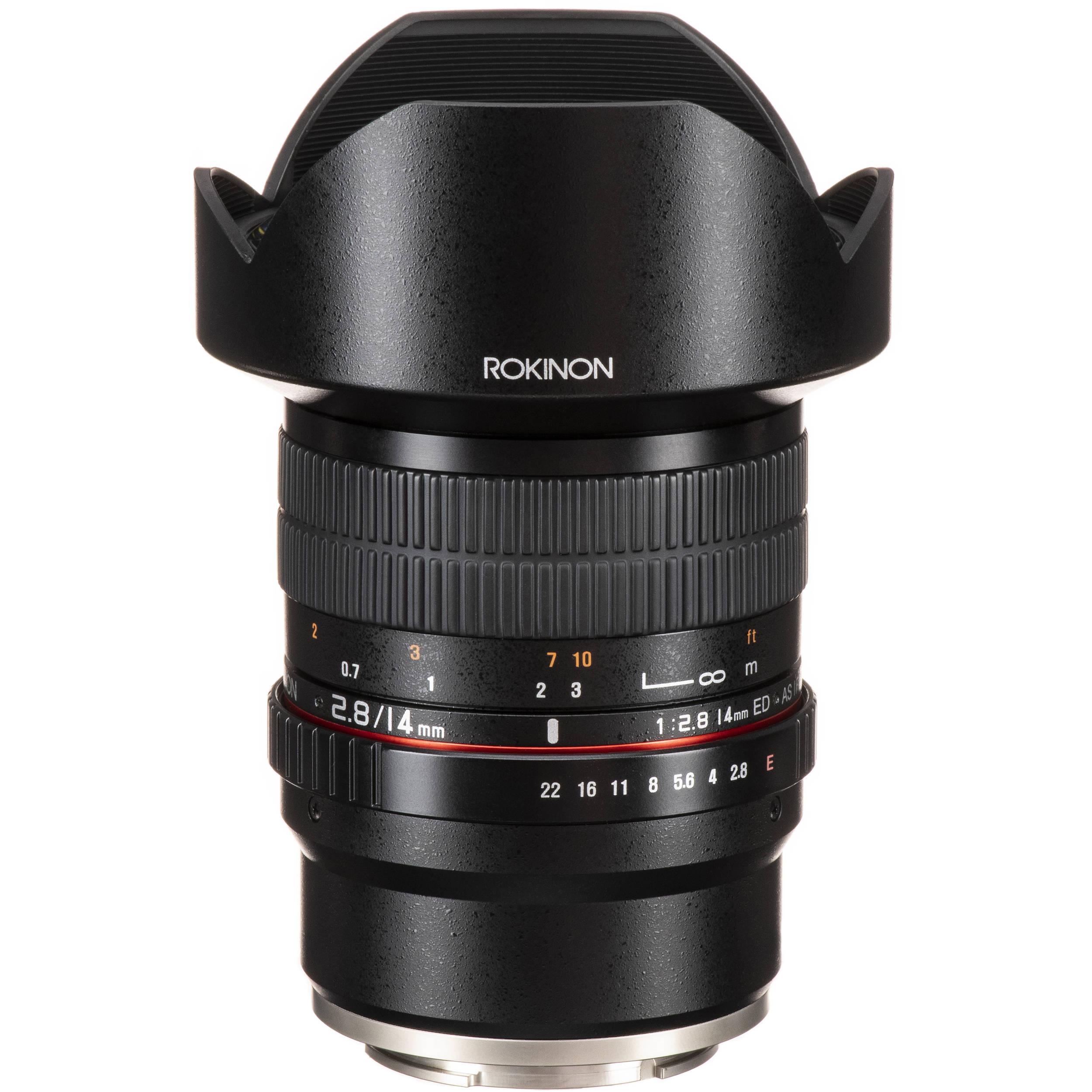 Rokinon 14mm f/2 8 ED AS IF UMC Lens for Sony E-Mount