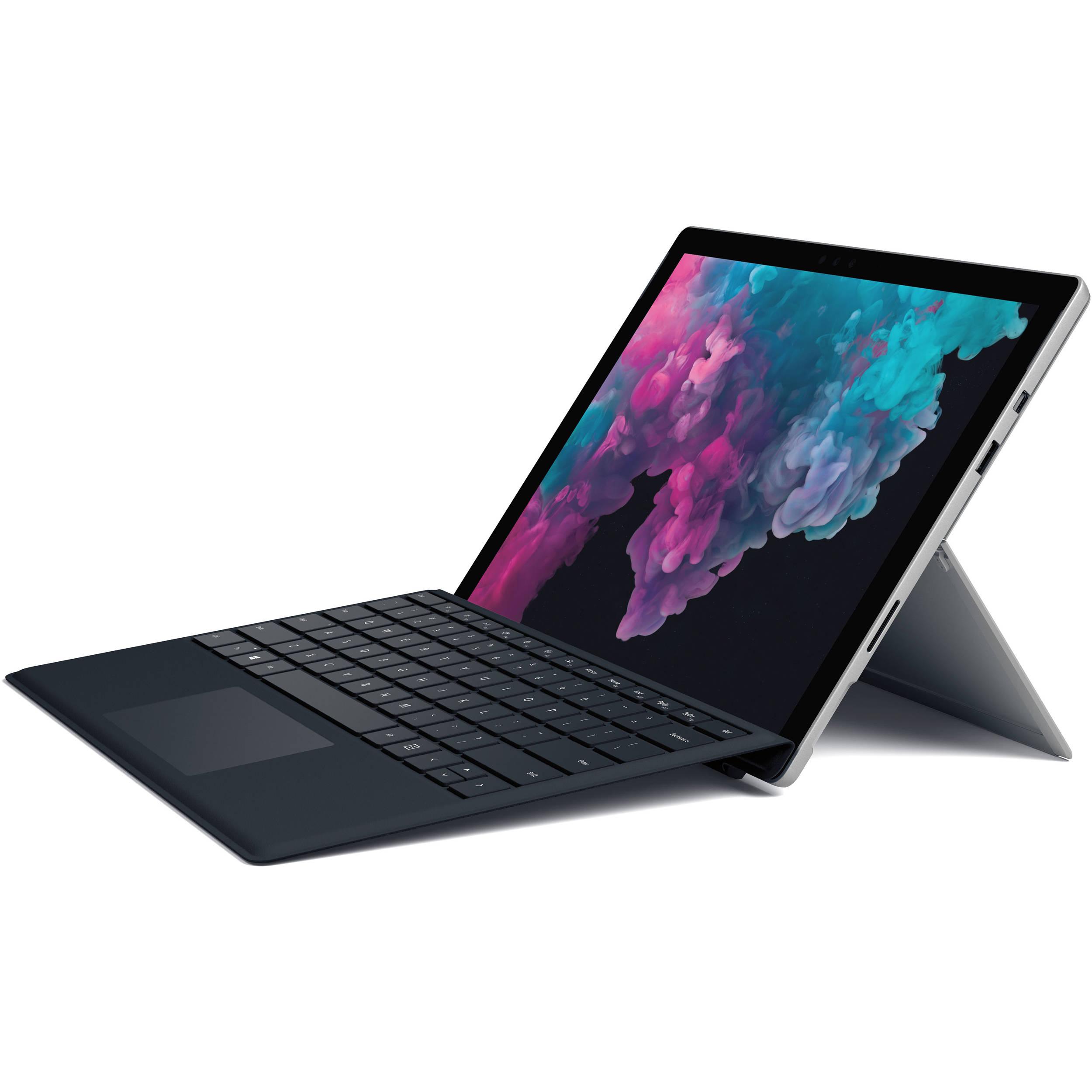 Microsoft Cover con Tastiera Nera per Surface Pro 4