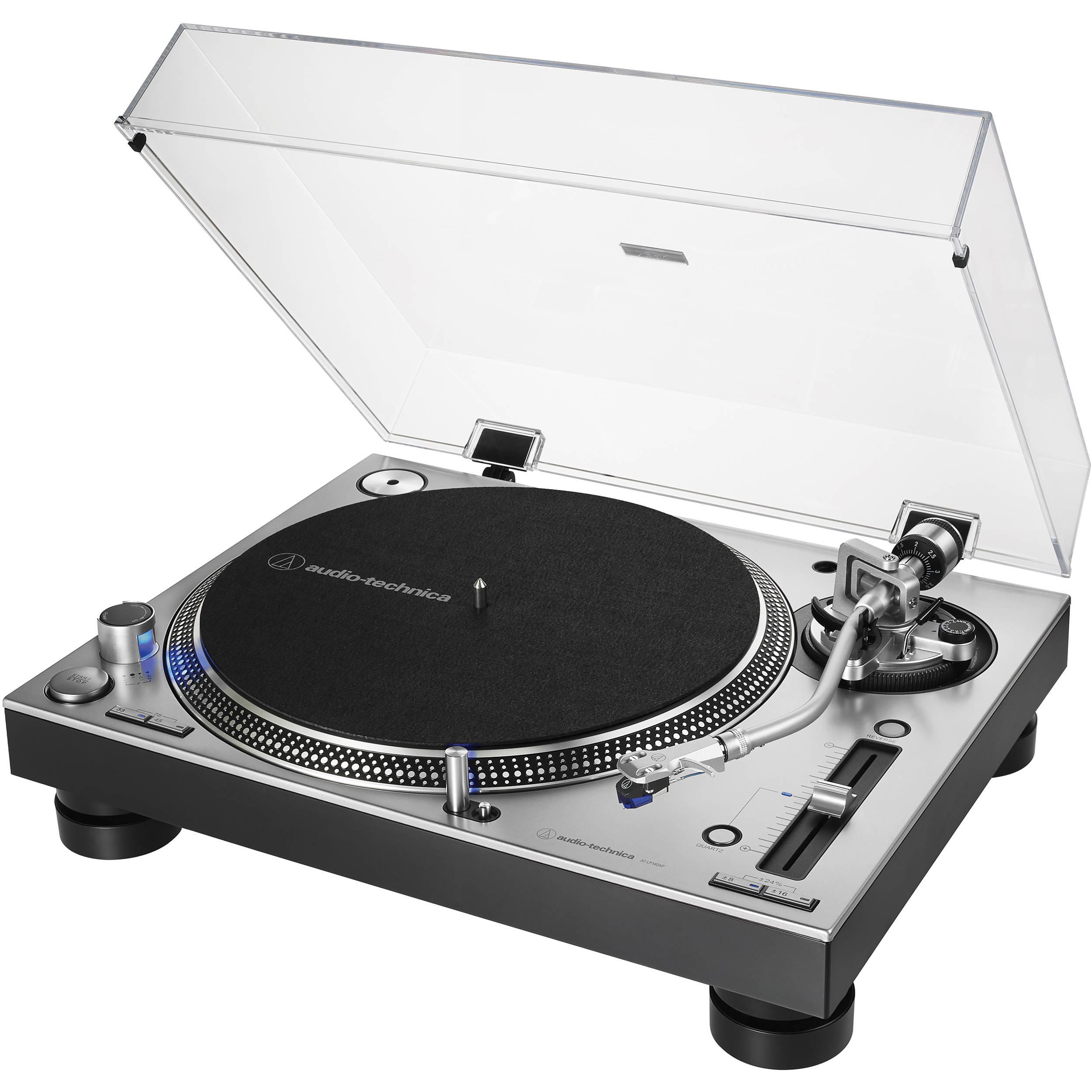 Audio-Technica Consumer AT-LP140XP Direct Drive Professional DJ Turntable  (Black)