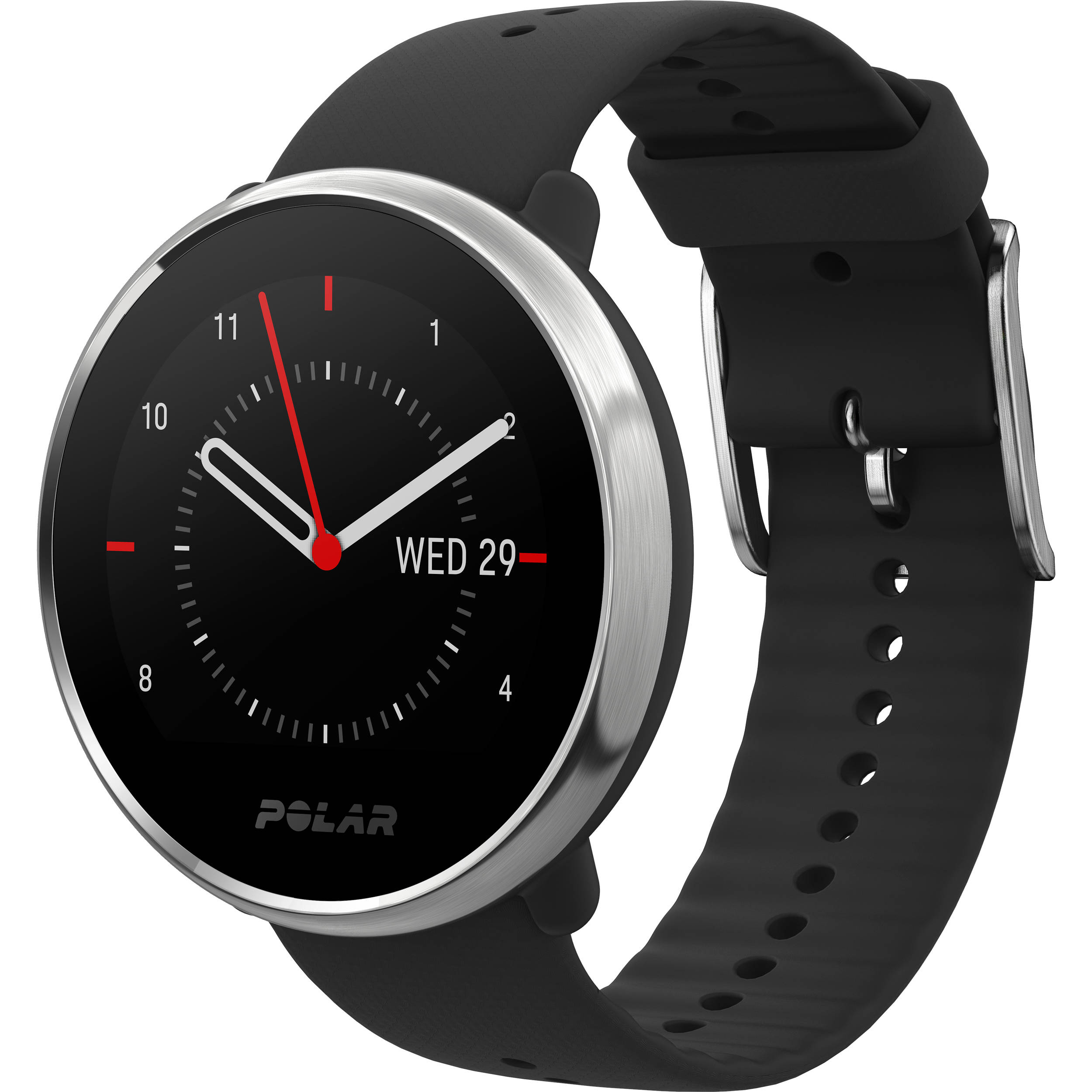 Polar Ignite GPS Fitness Watch with Heart Rate Monitor (Small, Black/Silver)