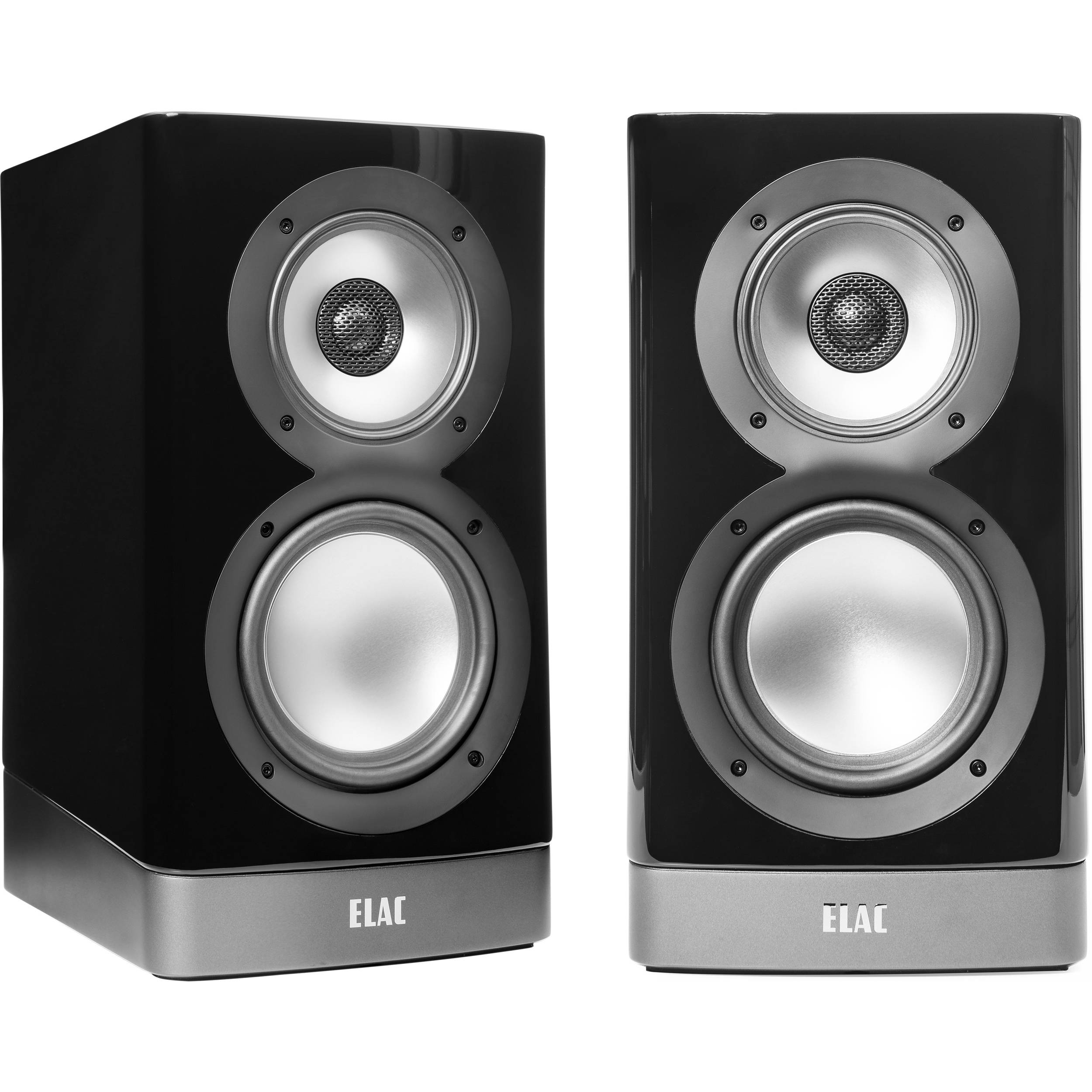 ELAC NAVIS ARB-51 3-Way Powered Bookshelf Speaker (Pair, Gloss Black)