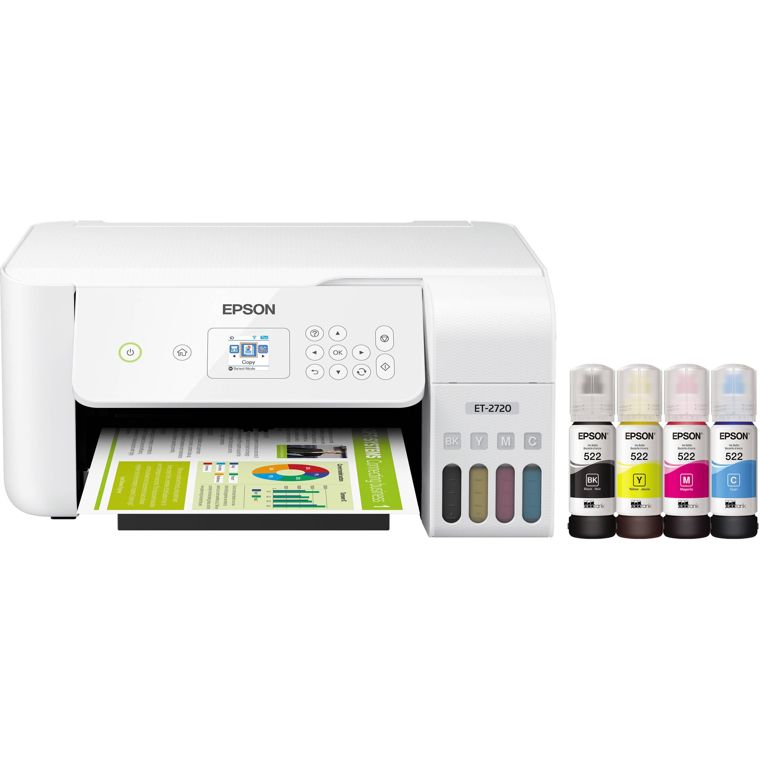 Epson EcoTank ET-2720 All-In-One Inkjet Printer (White)