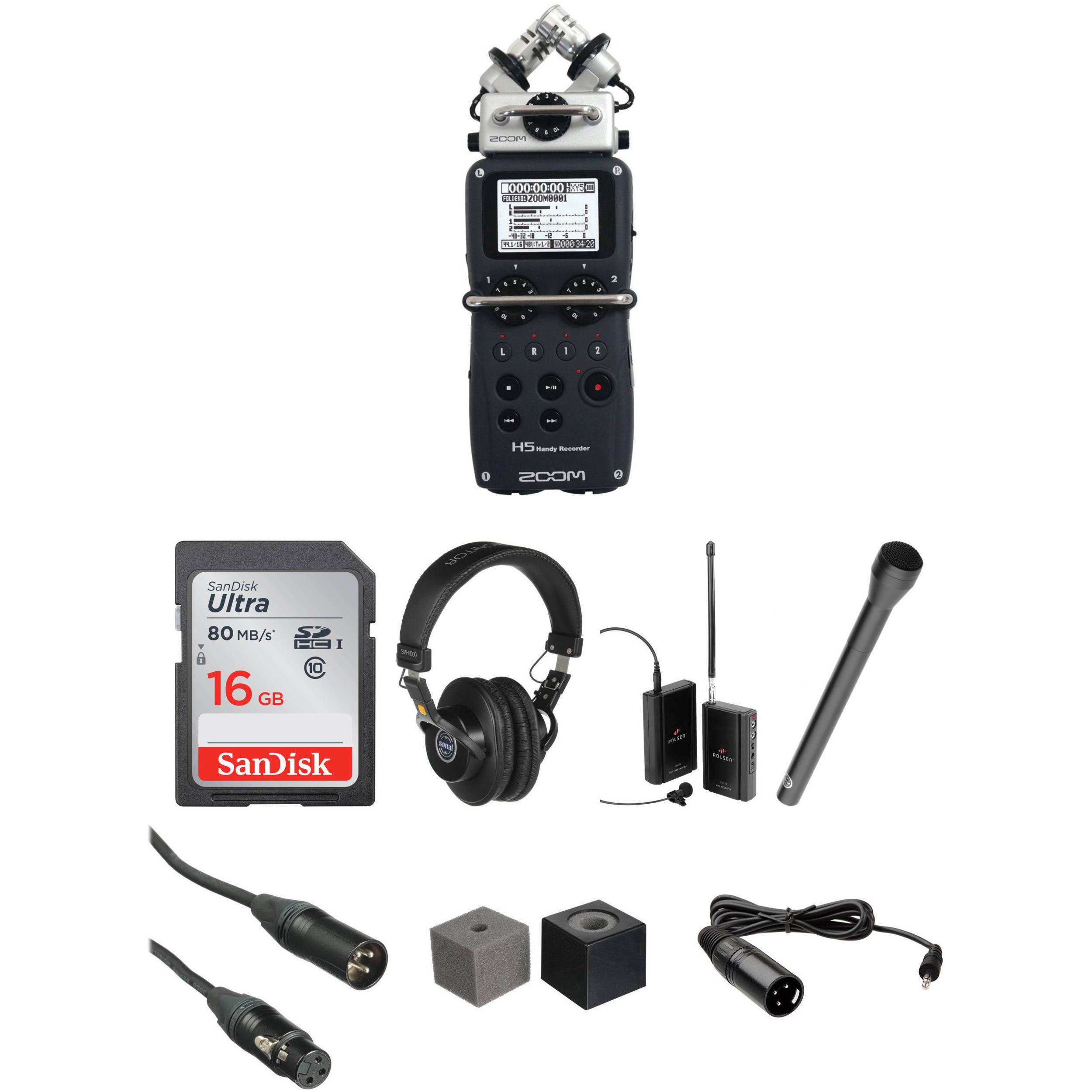 Zoom H5 Wireless Interview Kit B&H Photo Video