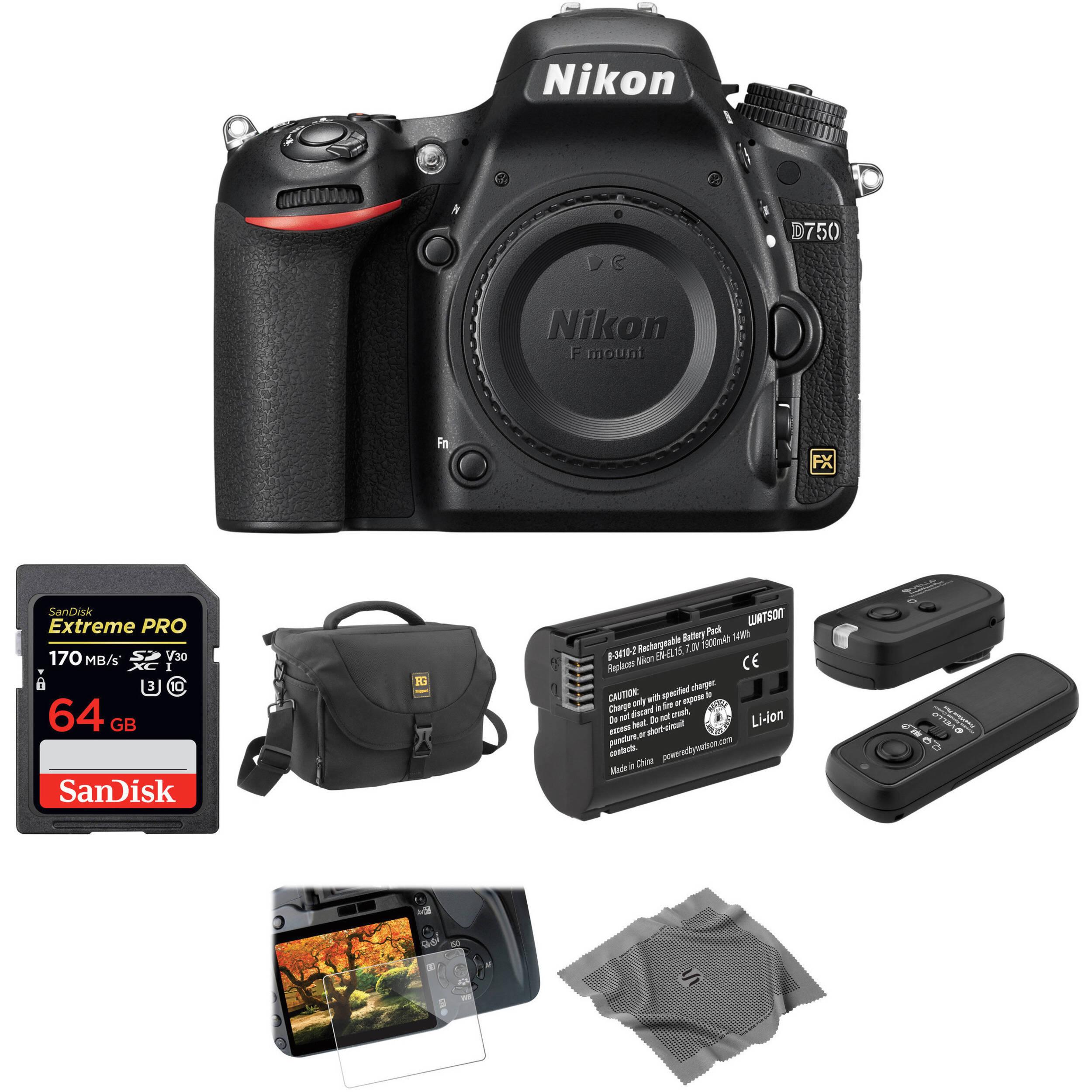 Nikon D750 DSLR Camera Body Basic Kit