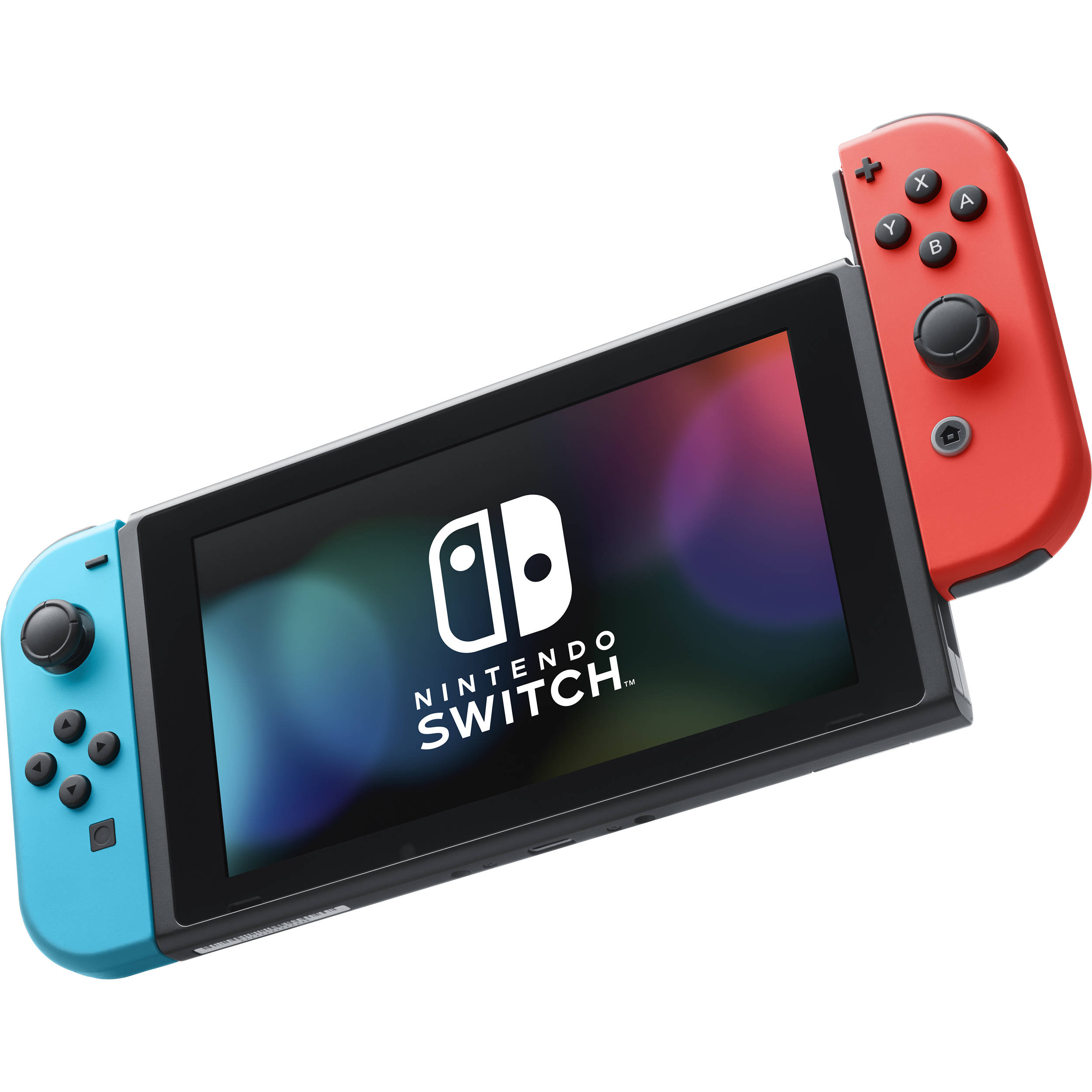 Nintendo Switch With Neon Blue And Red Controllers Nintendo Switch At B H