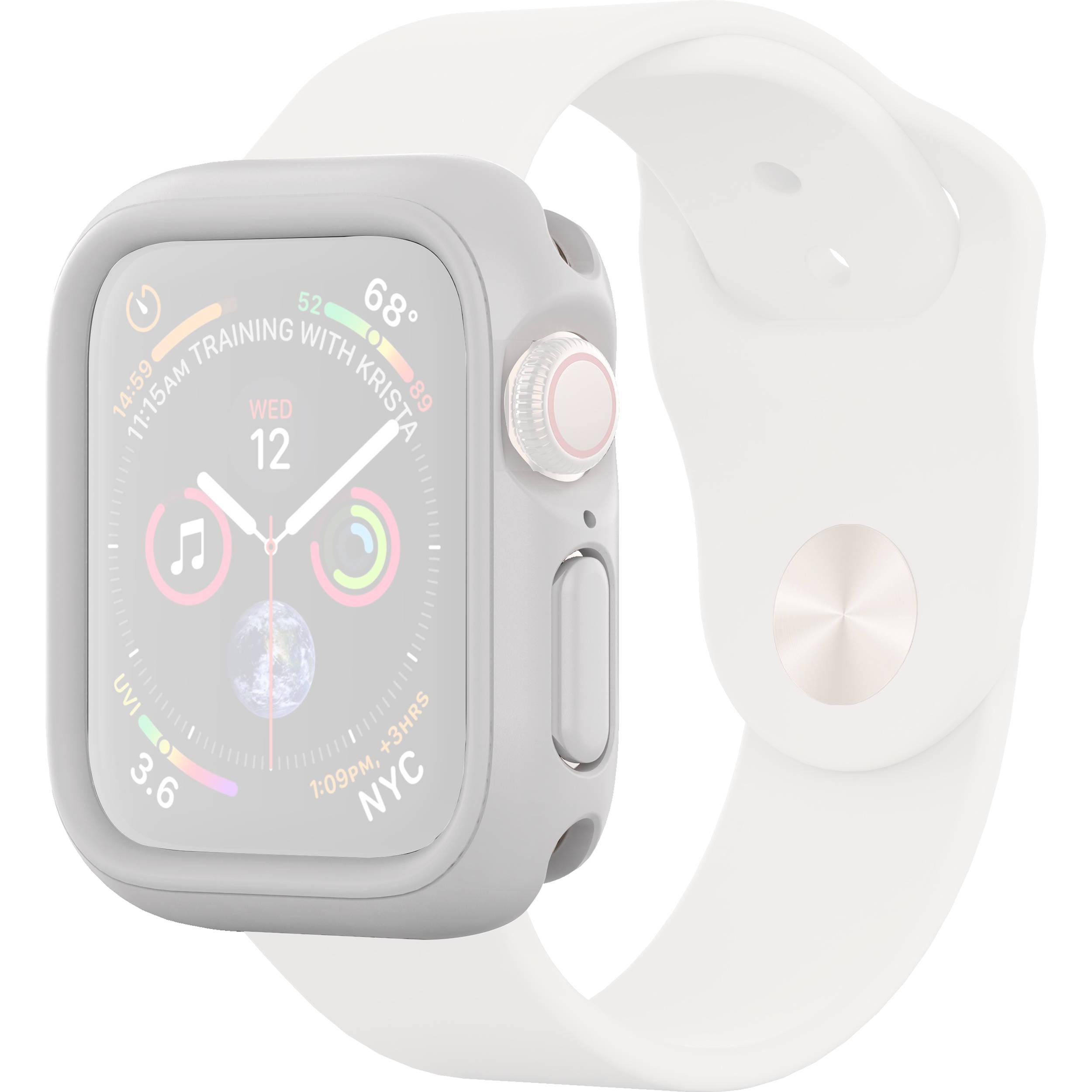 RhinoShield CrashGuard NX Frame + Rim Set for Apple Watch Series 4 (White,  44mm)