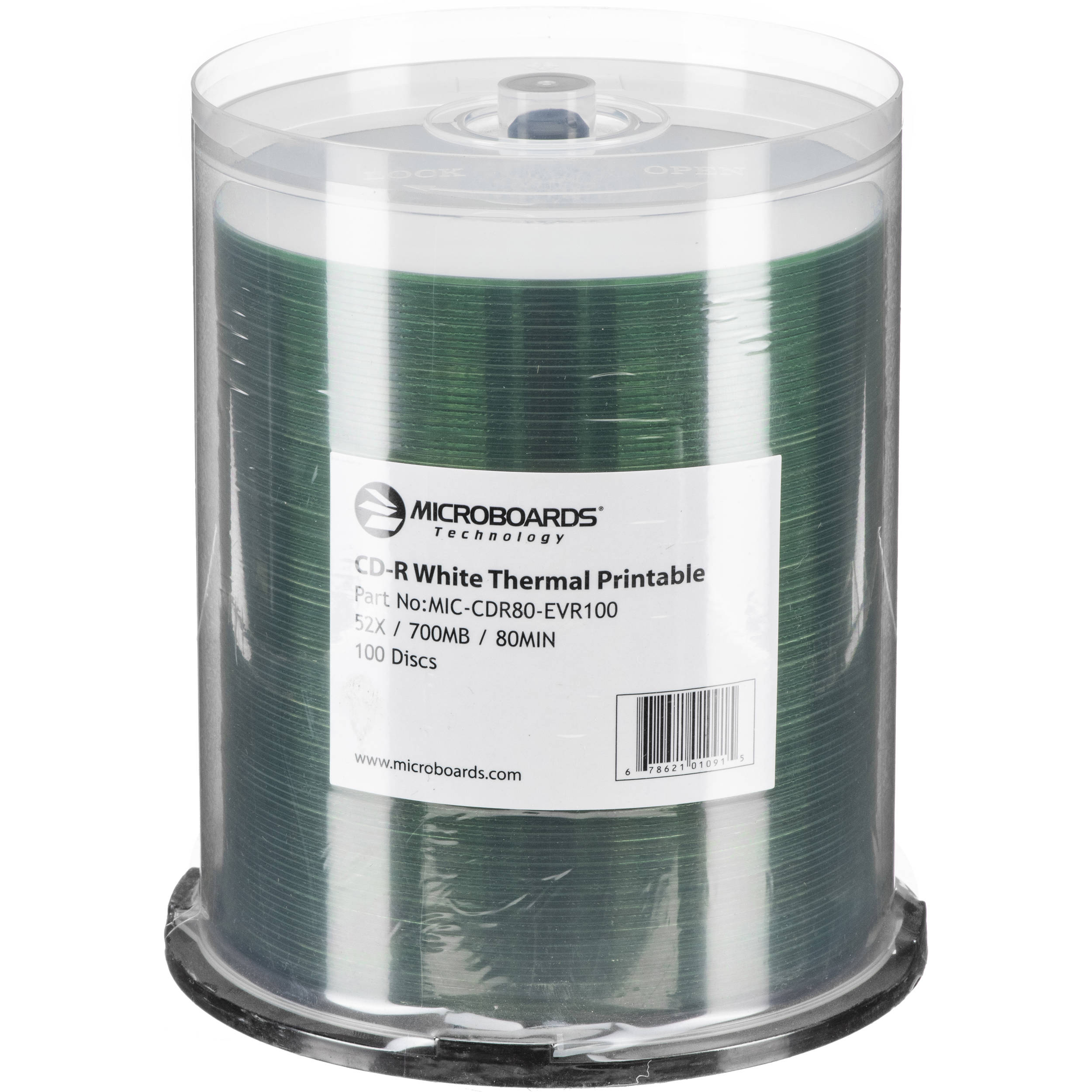 photo about Printable Cdr referred to as Microboards Printable 52x CD-R (100-Pack) For Rimage Everest Printer