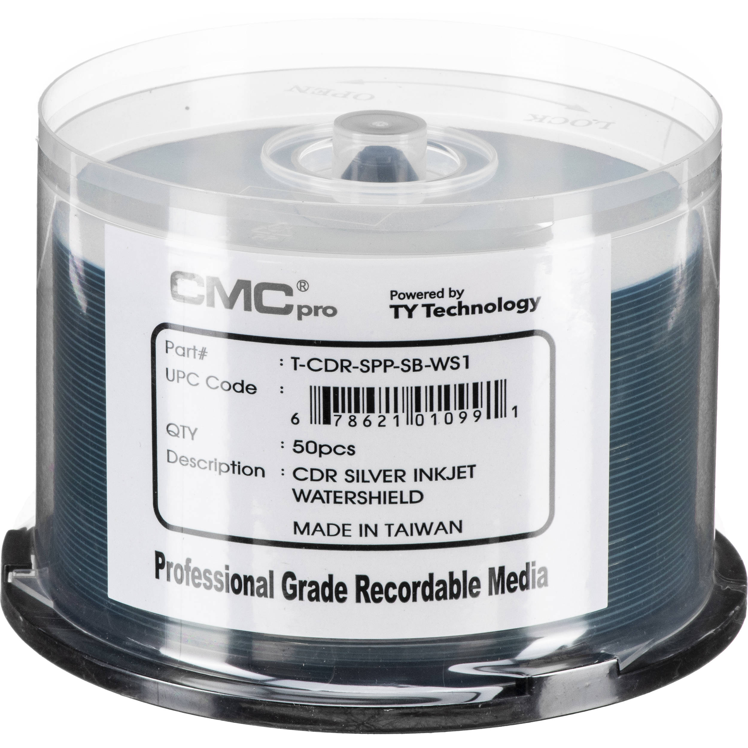 photograph relating to Cd R Printable called CMC Qualified 700MB CD-R WaterShield Silver Printable 48x Discs (Pack of 50)