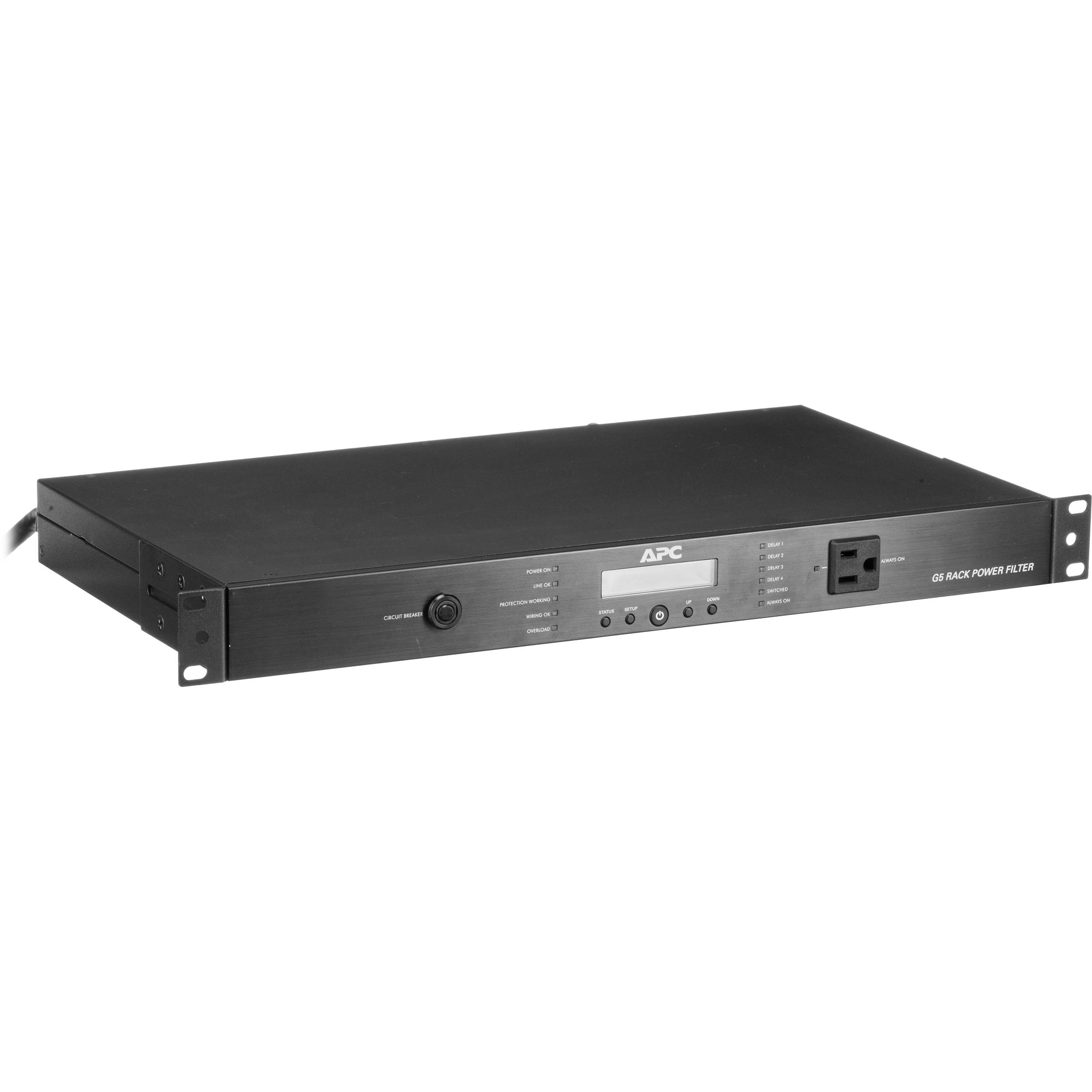APC AV 15 Amp G Type Rack Power Filter, 120V