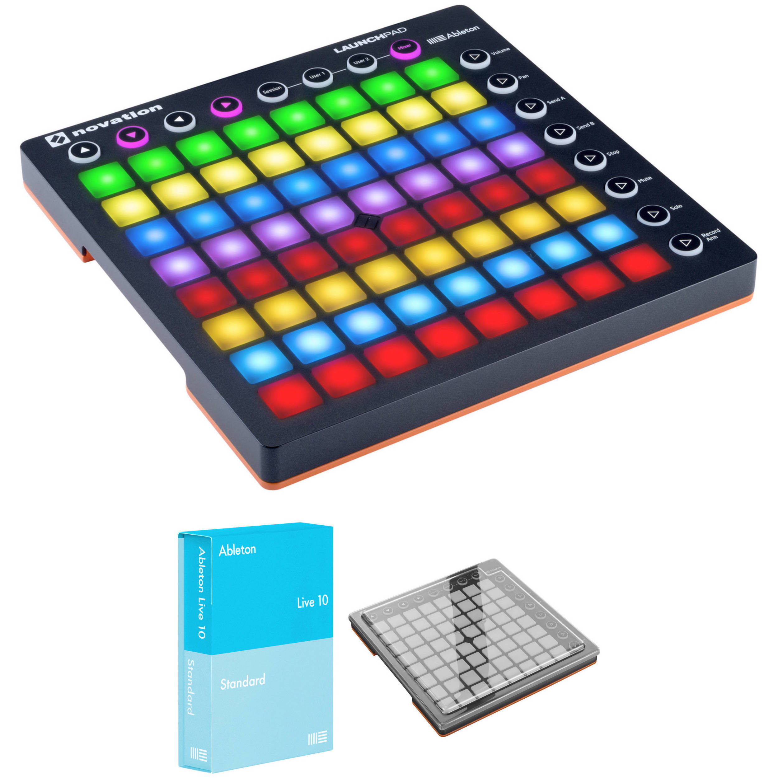 Novation Launchpad Controller MK2 Kit with Ableton Live Standard and  Decksaver Cover