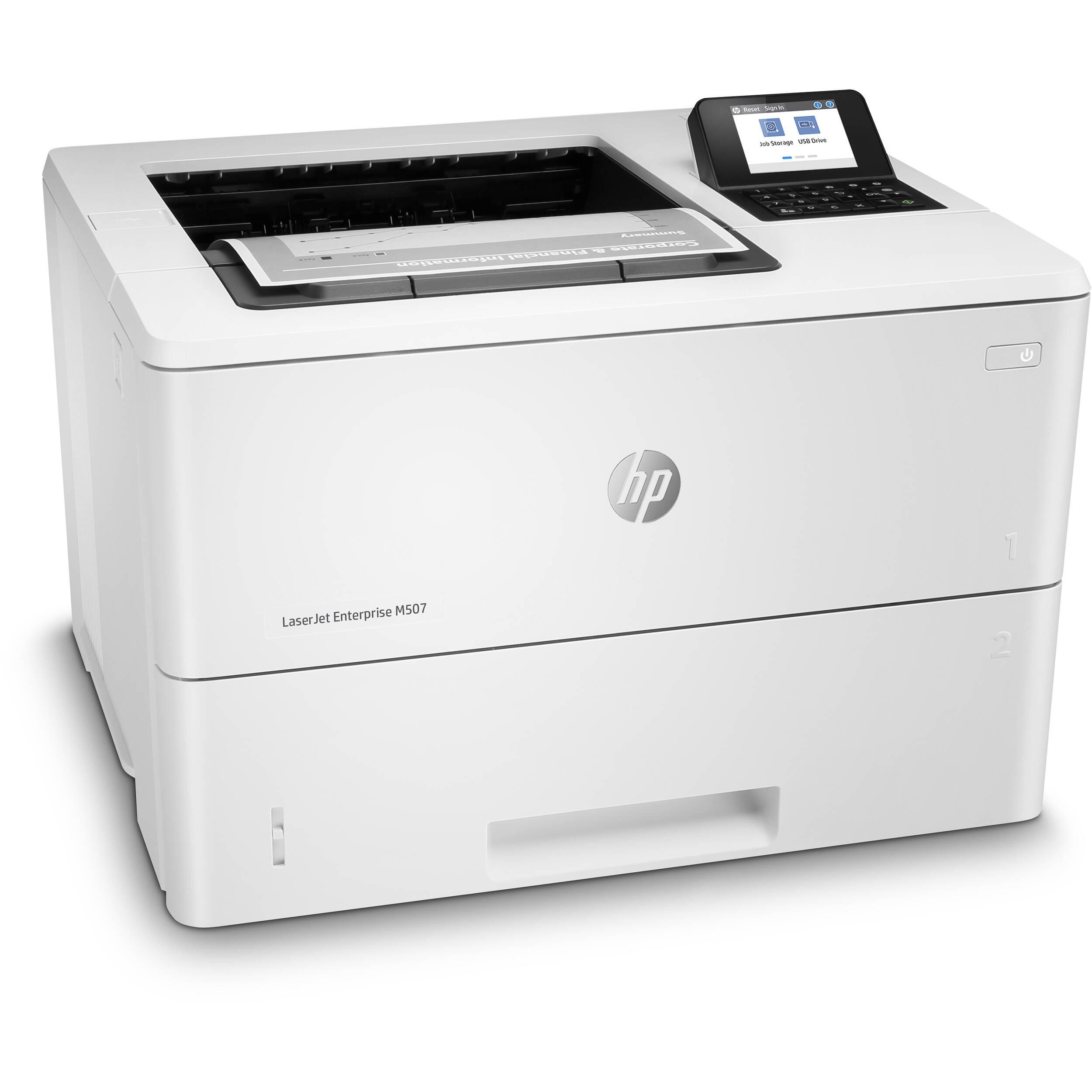 HP LaserJet Enterprise M507dn Monochrome Printer 1PV87A#BGJ B&H